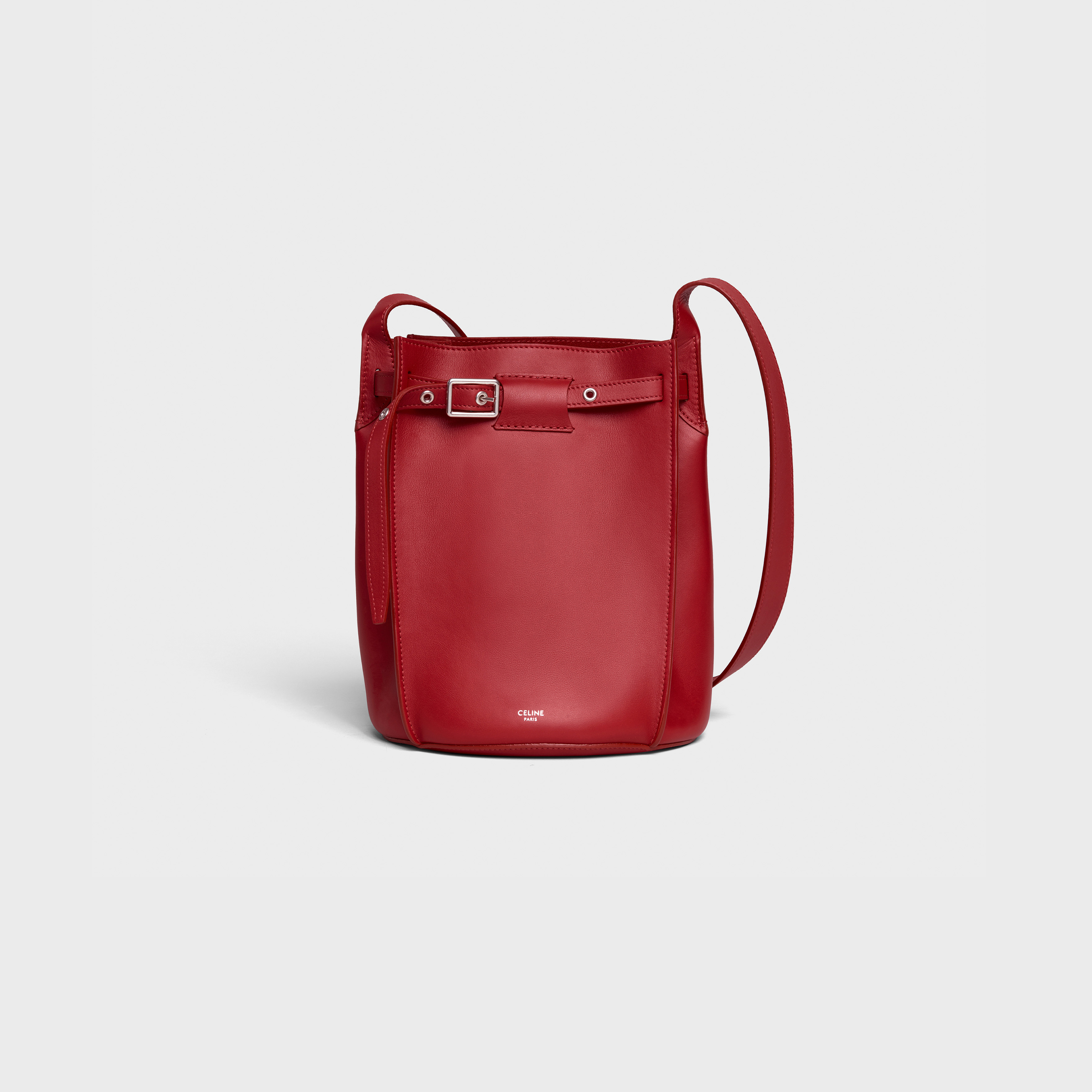Big Bag Bucket with long strap in smooth calfskin | CELINE