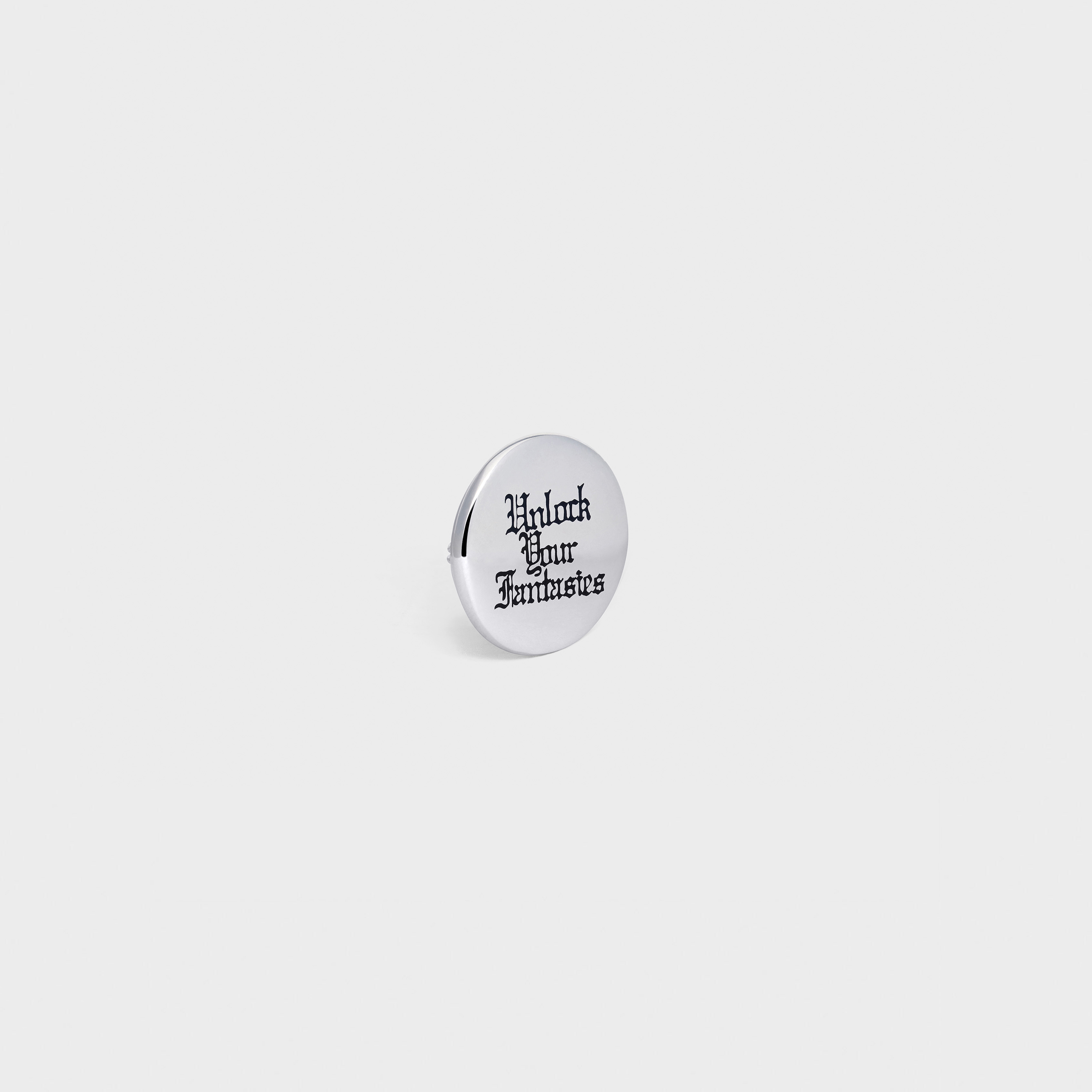 Unlock Your Fantasies Small Badge in Sterling Silver and Enamel | CELINE