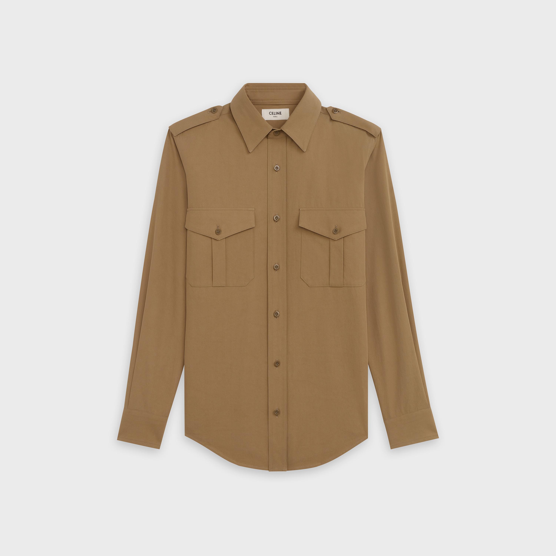 military shirt in lightweight cotton twill