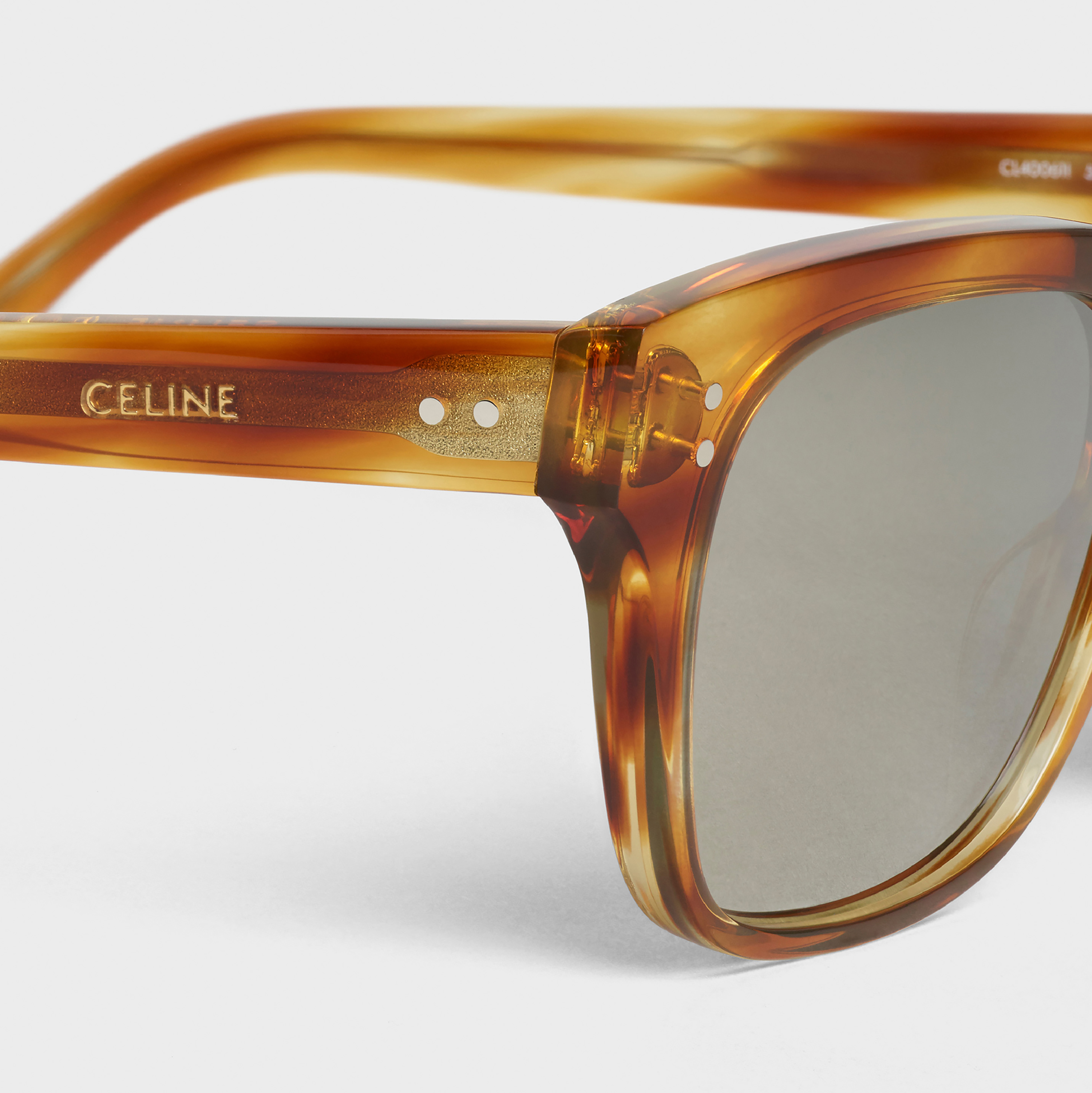 Black Frame 04 sunglasses in Acetate with Mirror Lenses | CELINE