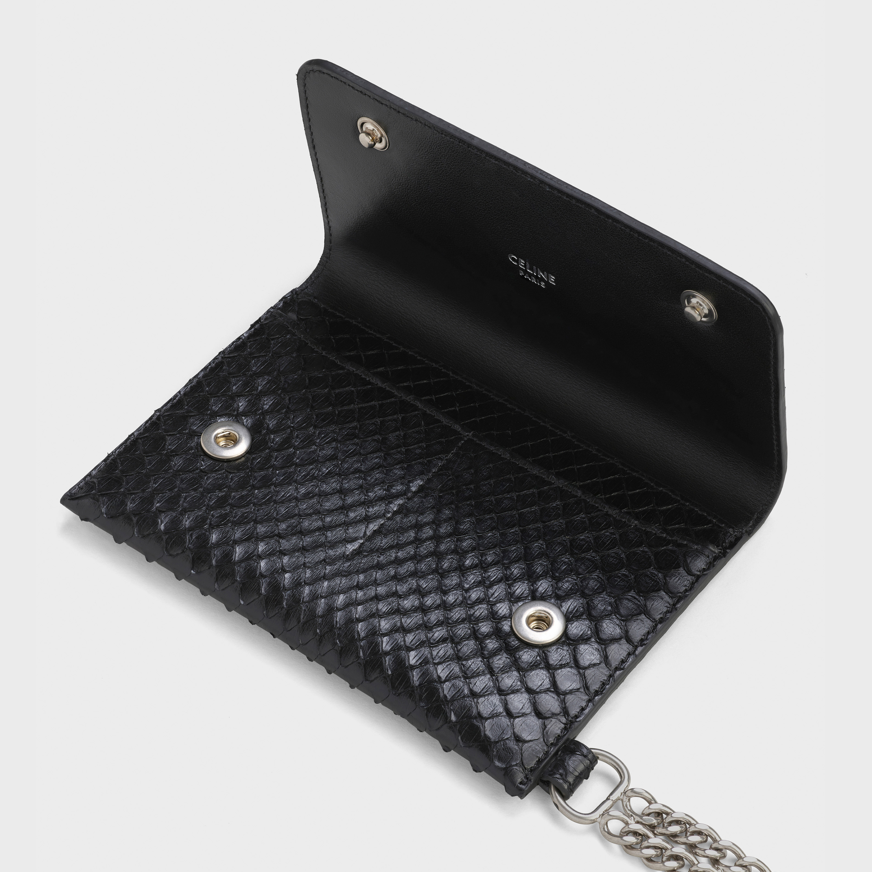 Biker wallet with chain in python | CELINE