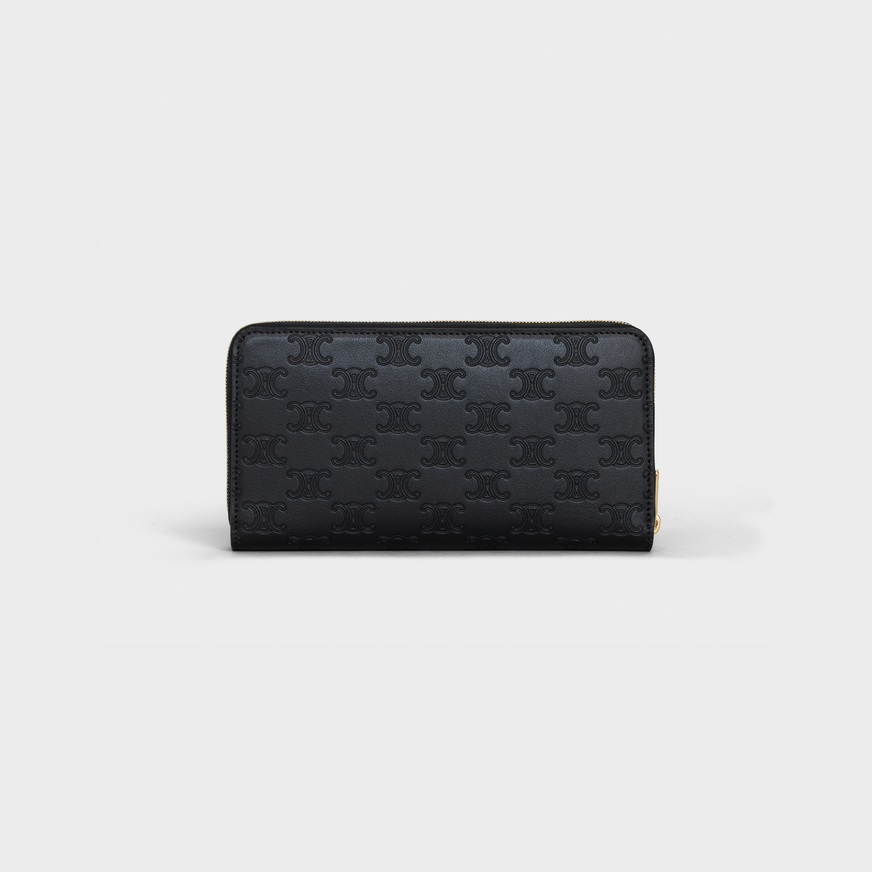 Large zipped wallet in Embossed smooth calfskin | CELINE
