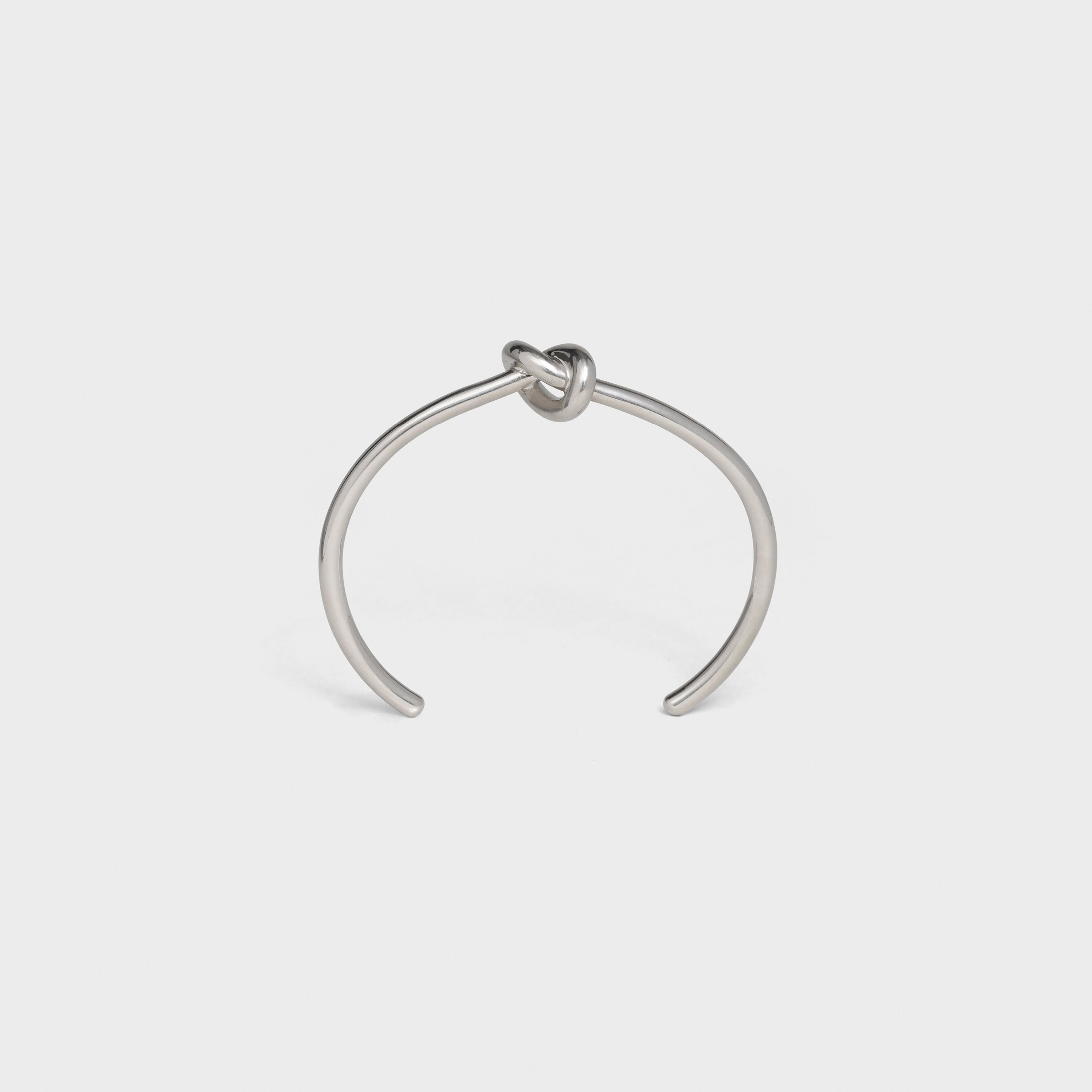 Knot Extra-Thin Bracelet in Brass with Rhodium finish | CELINE