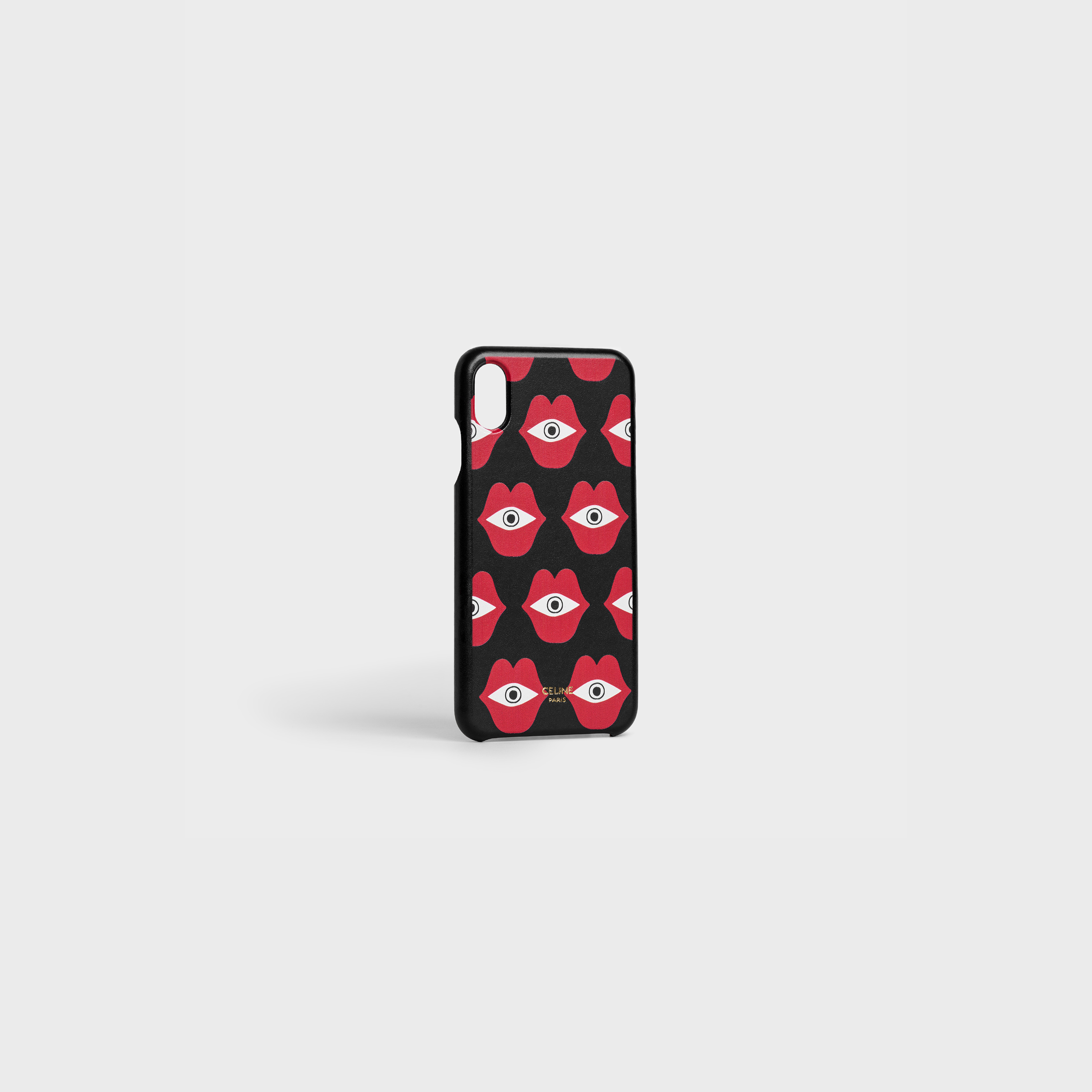 "Iphone XS MAX Case in Lambskin with Anneli Henriksson ""Telepathic Love"" print 