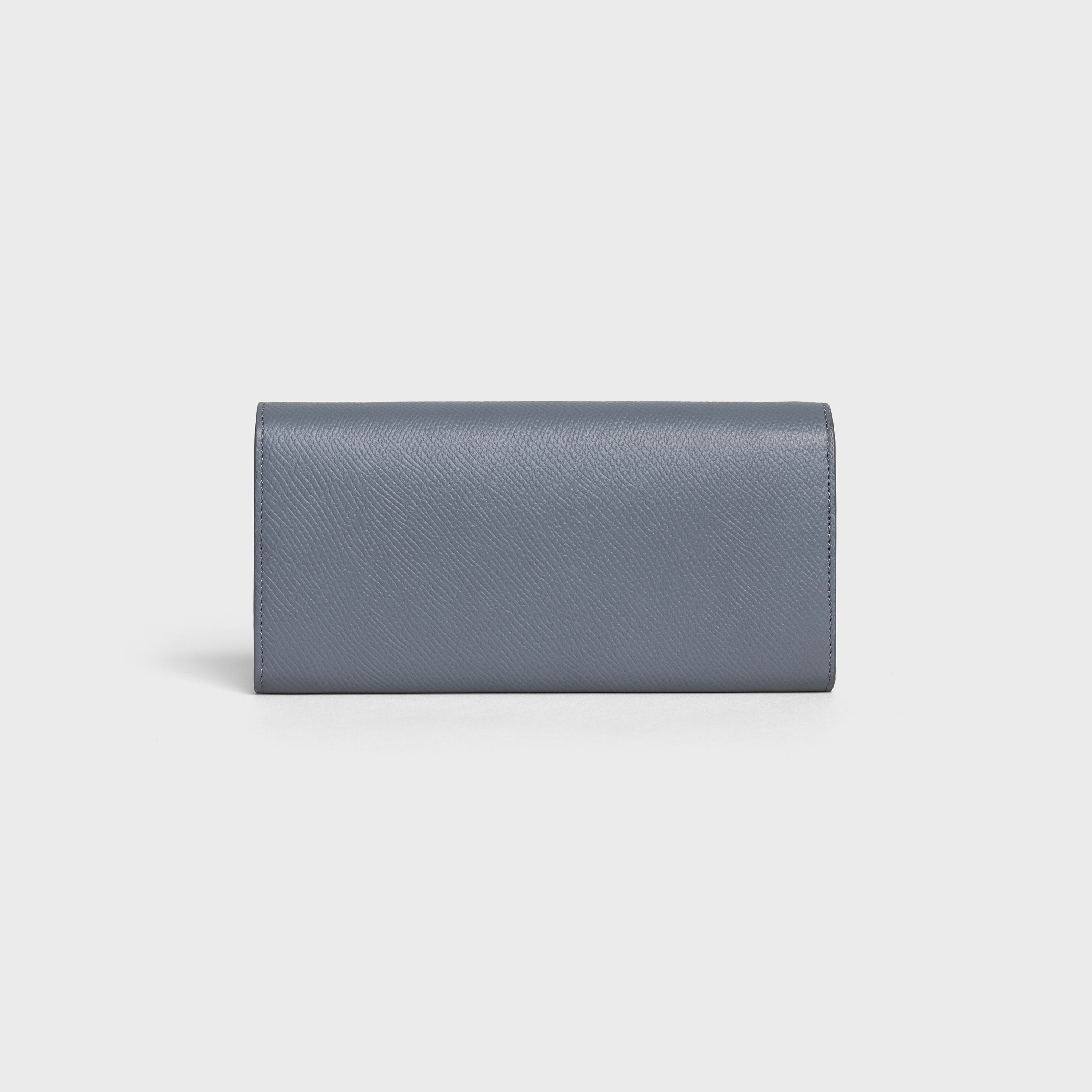 Large flap wallet in Grained calfskin | CELINE