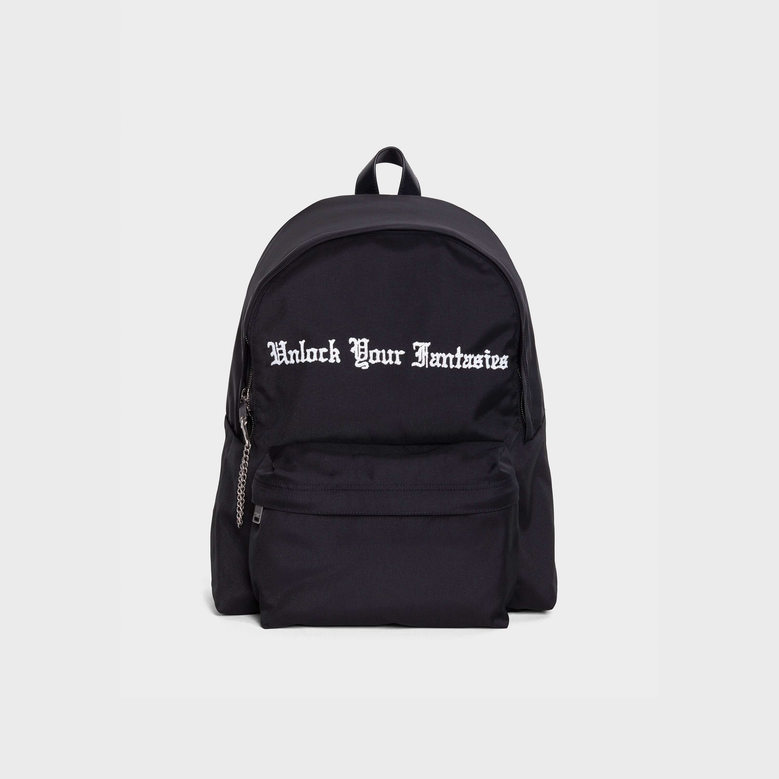 "Medium Backpack in Cody defranco ""Unlock your fantaisies"" embroidered nylon 
