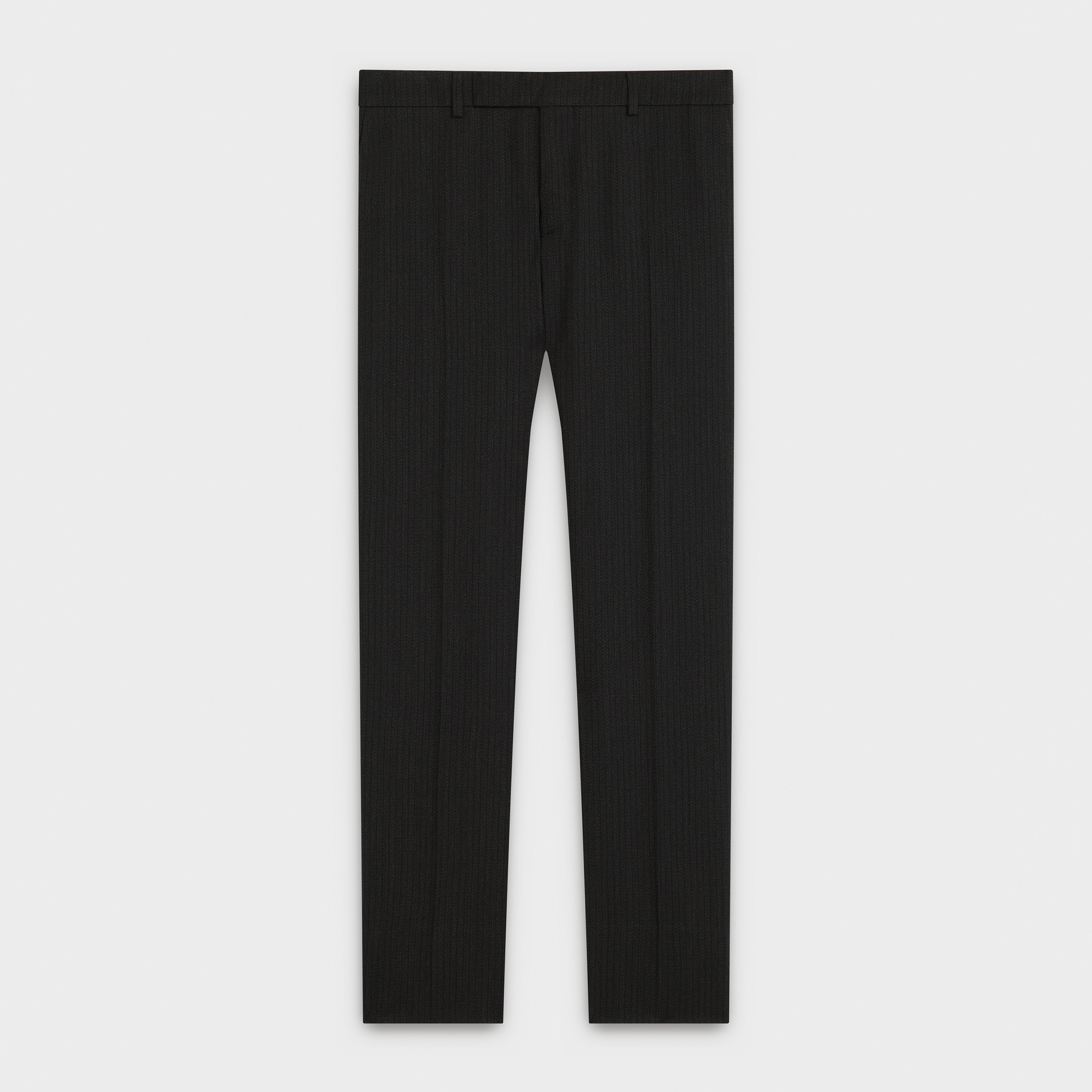 classic pants in striped virgin wool | CELINE