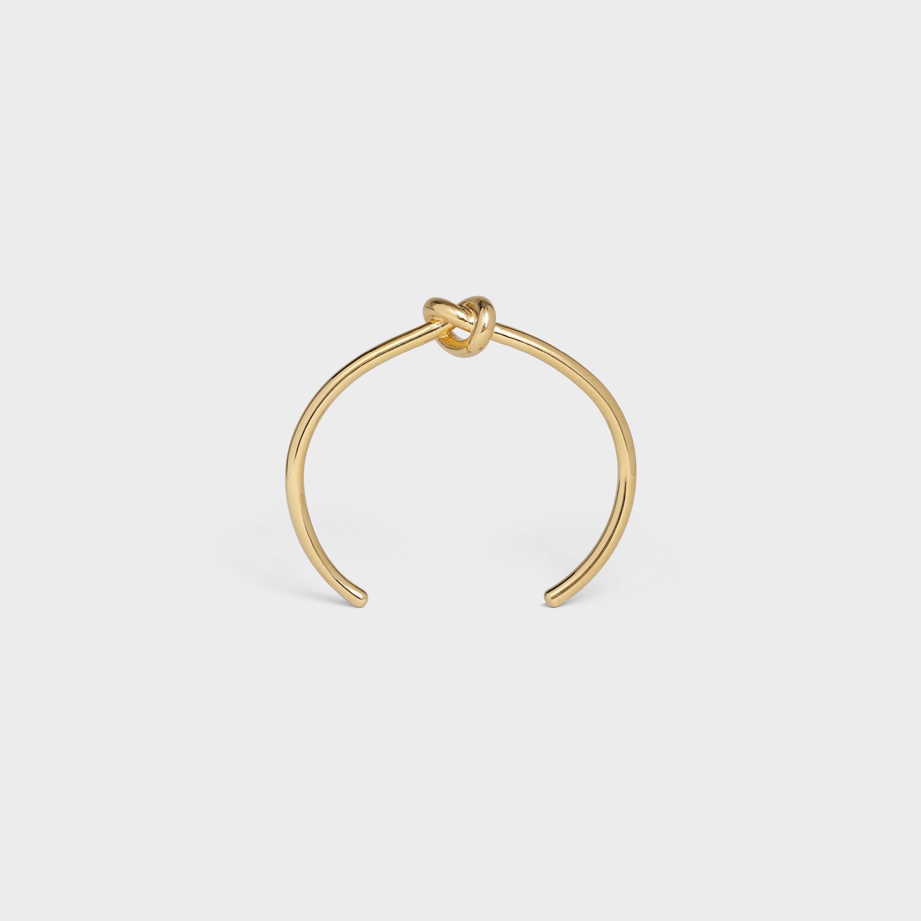 Knot extra-thin bracelet in brass with gold finish | CELINE