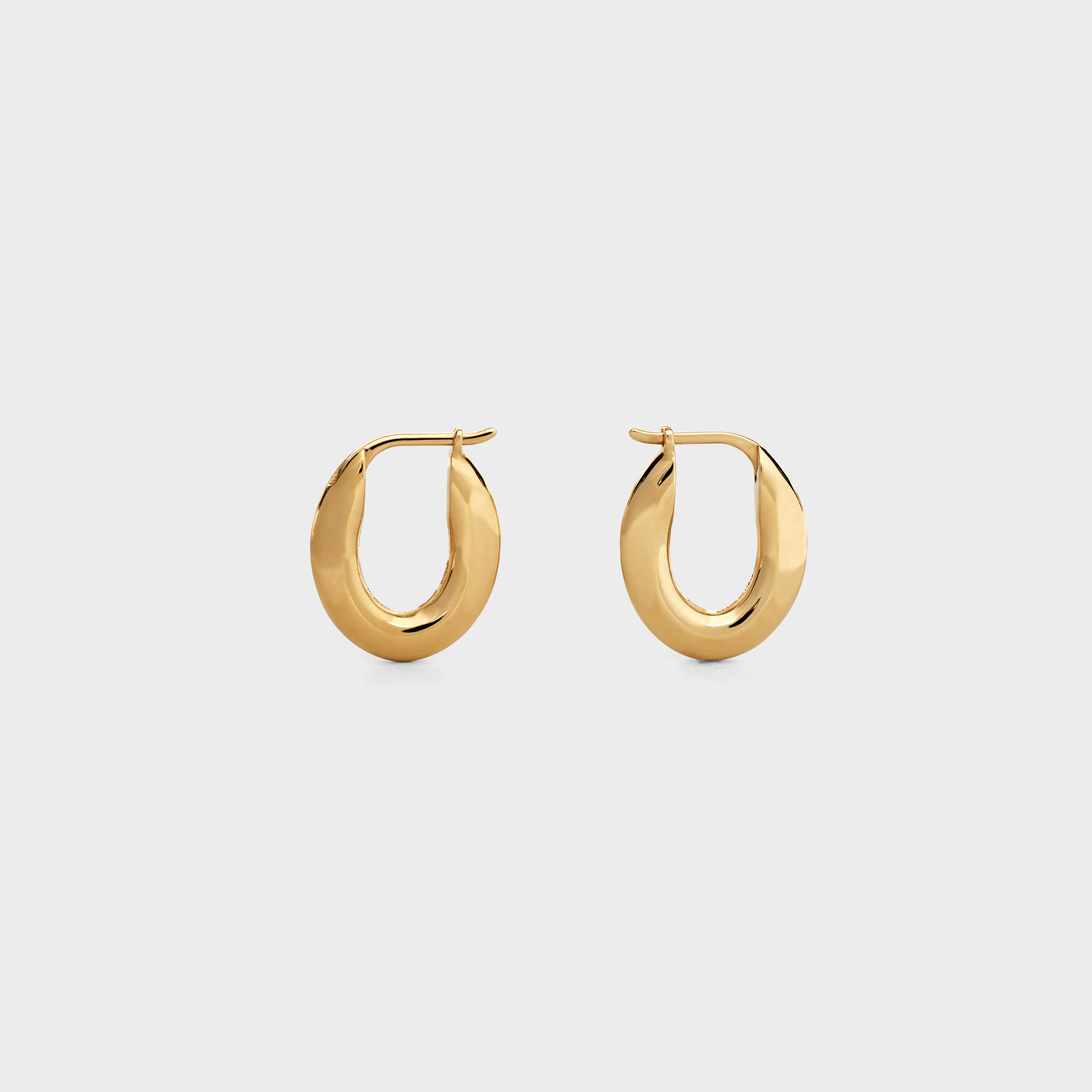Chaîne Triomphe Small Earrings in Vermeil | CELINE