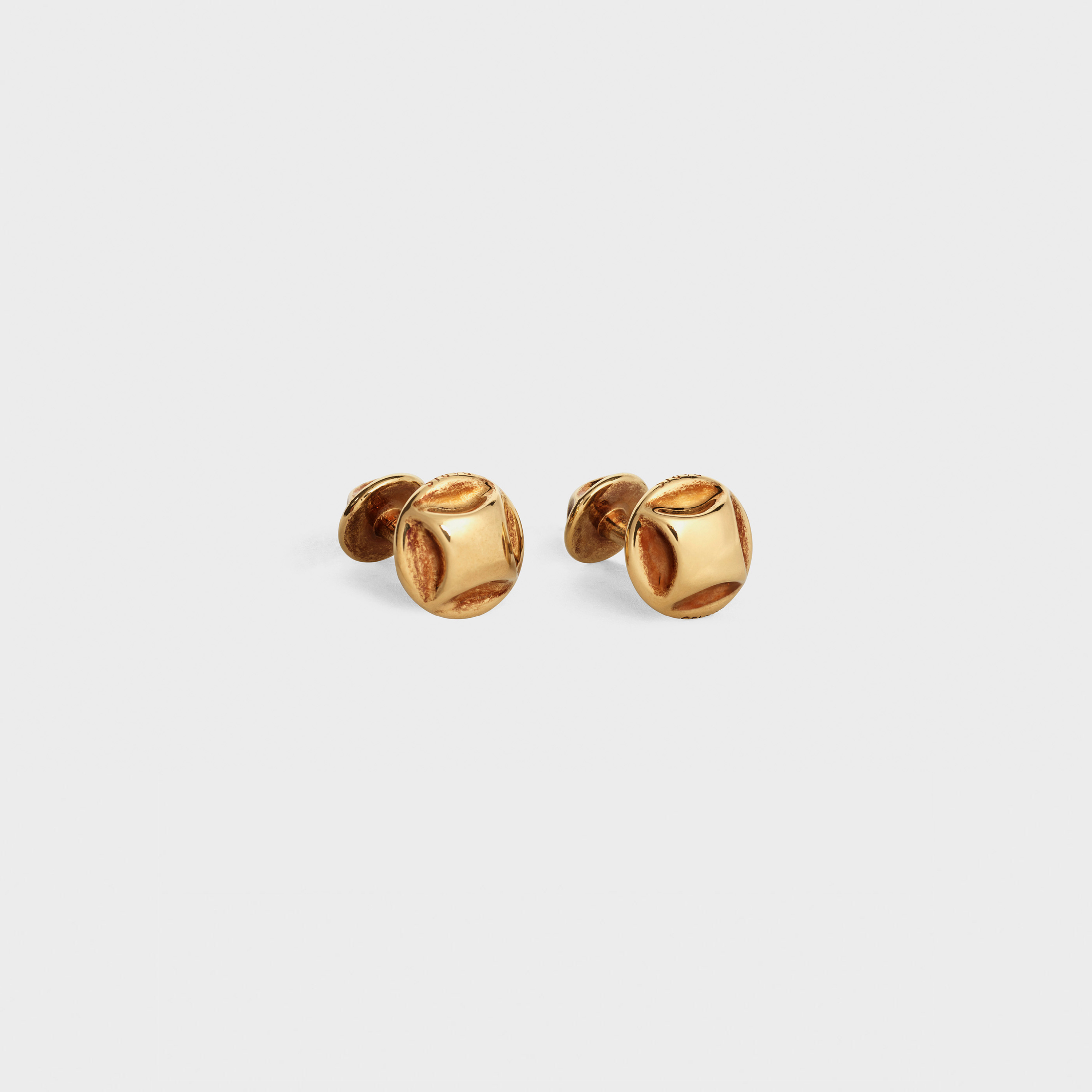 Clous Celine Cufflinks in Brass with Vintage Gold finish | CELINE