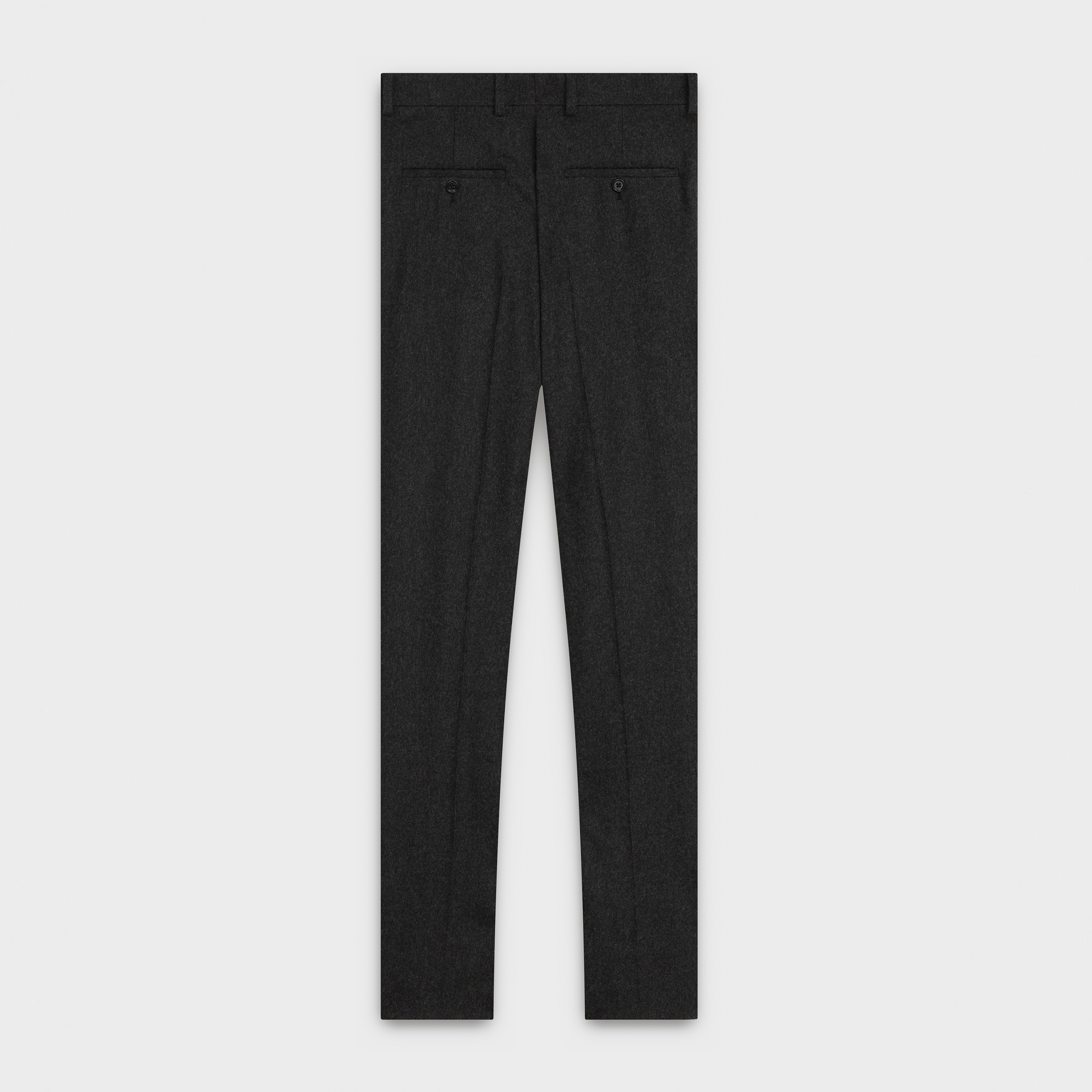 new wave pants with two pleats in wool flannel, ankle length | CELINE