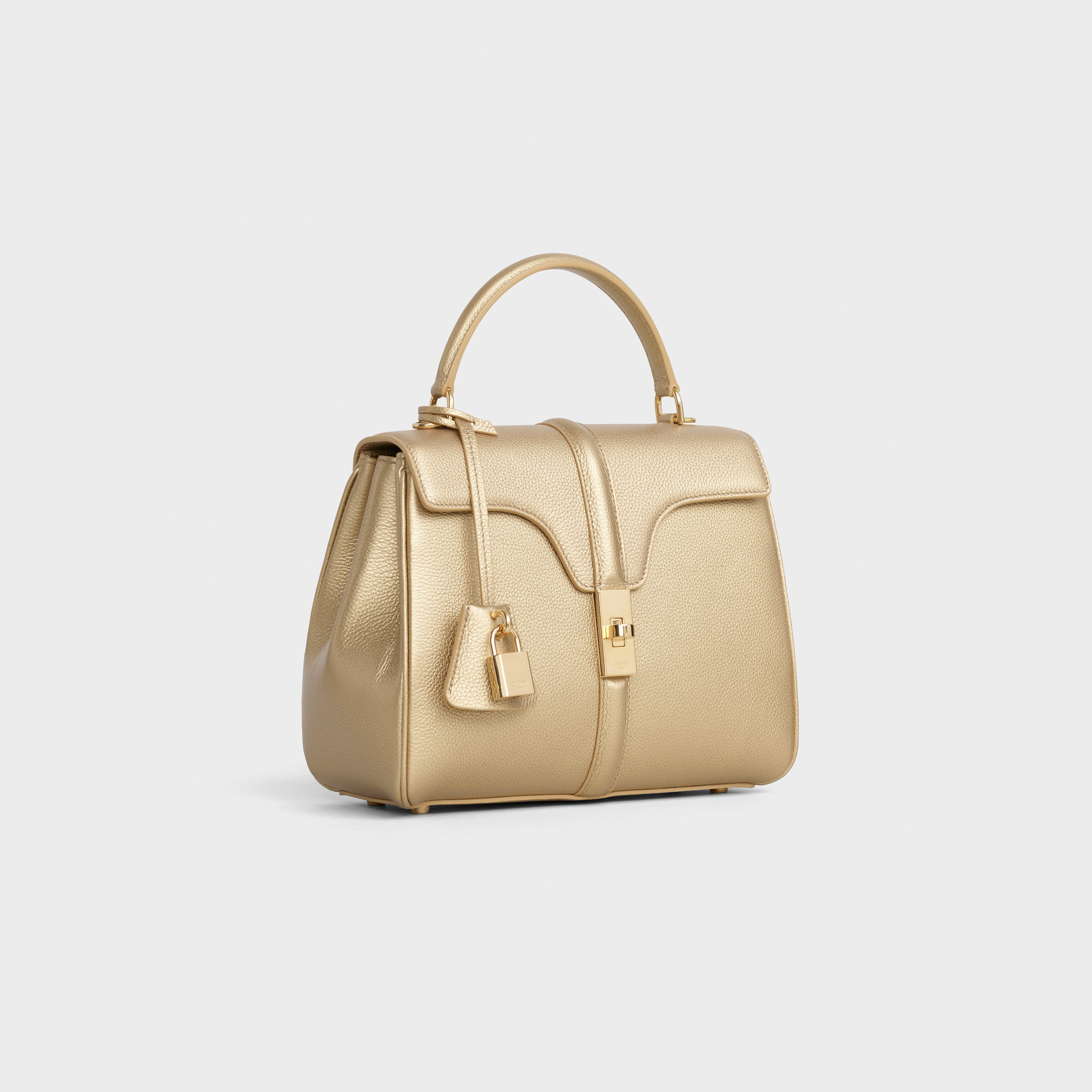 Small 16 Bag in laminated grained calfskin | CELINE