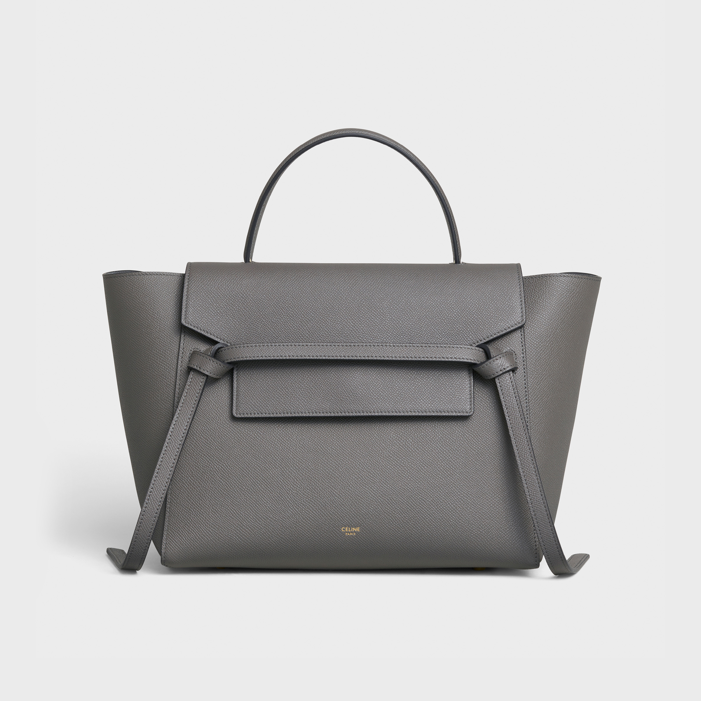 Mini Belt Bag In Grained Calfskin Grey 189103zva 10dc Celine