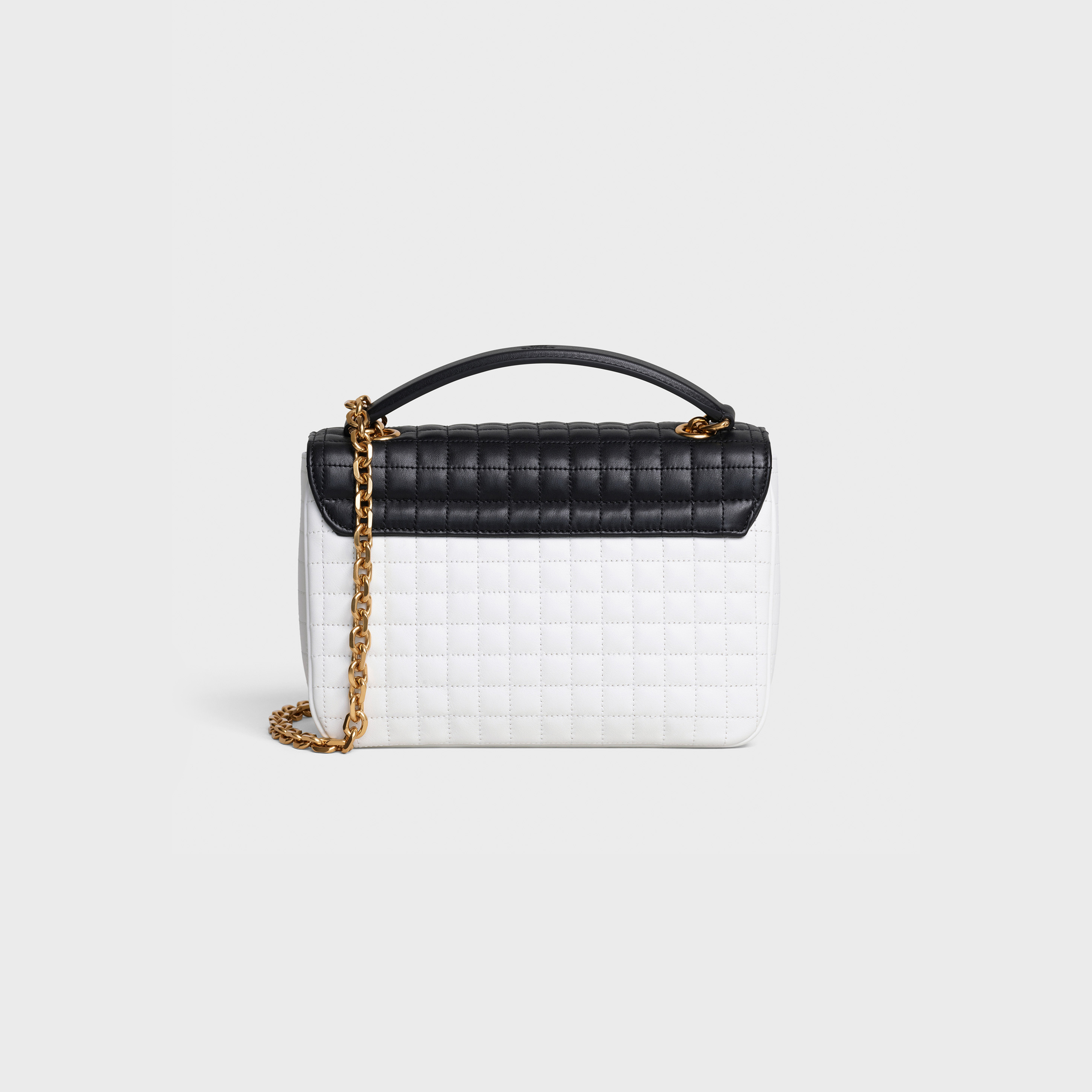 Medium C Bag in bicolour quilted calfskin | CELINE