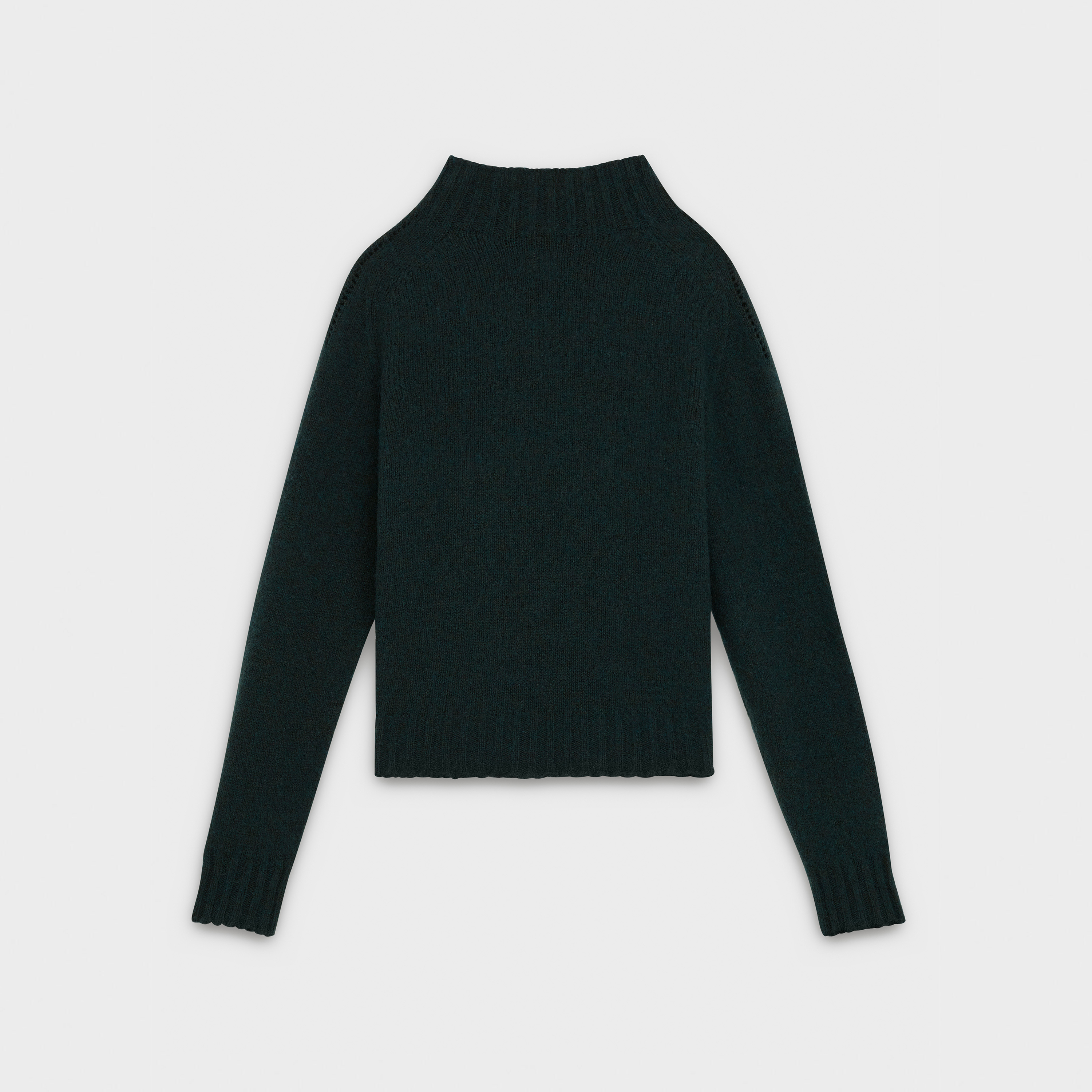 stand-up collar sweater in shetland wool | CELINE
