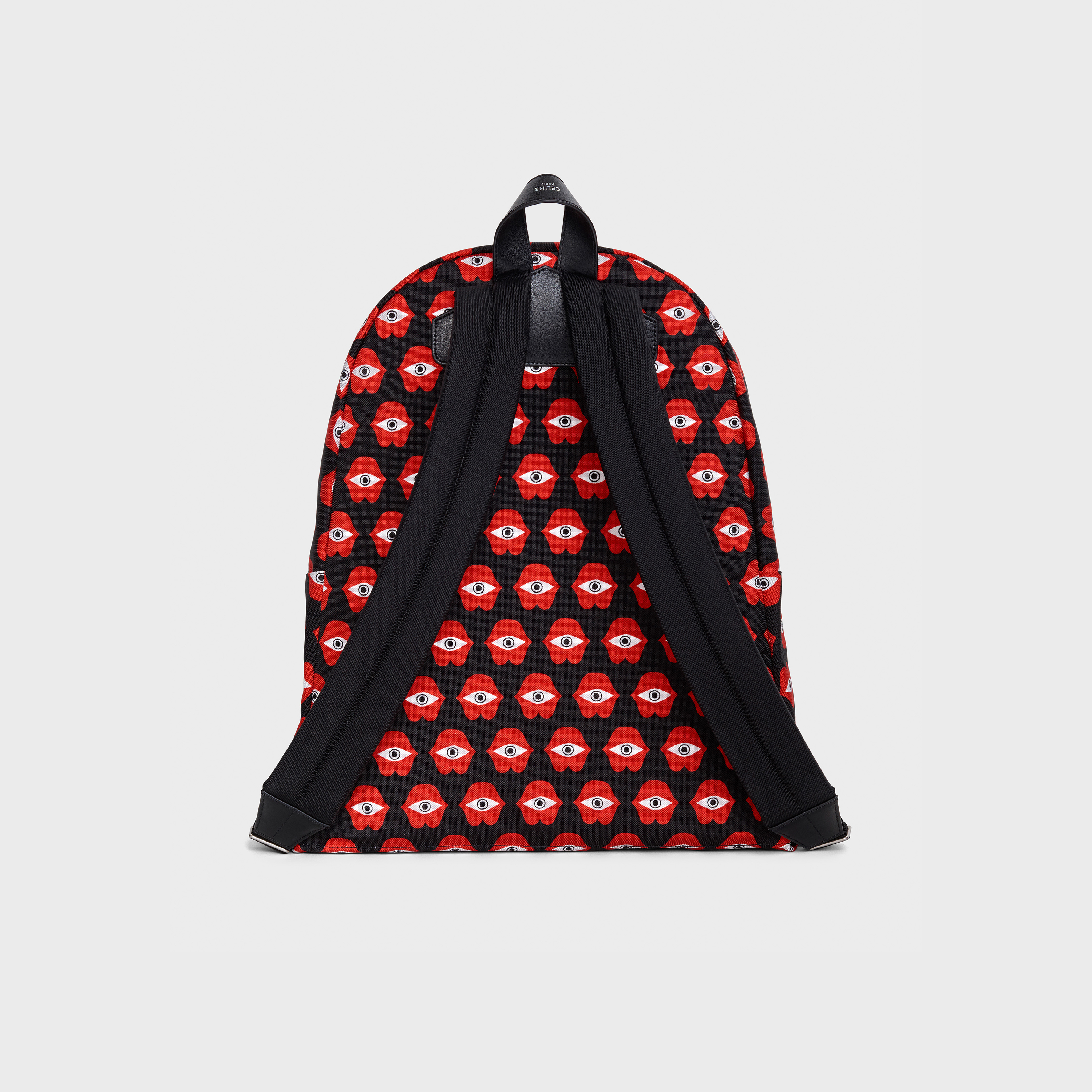 "Medium Backpack in Anneli Henriksson "" Telepathic Love"" printed nylon 