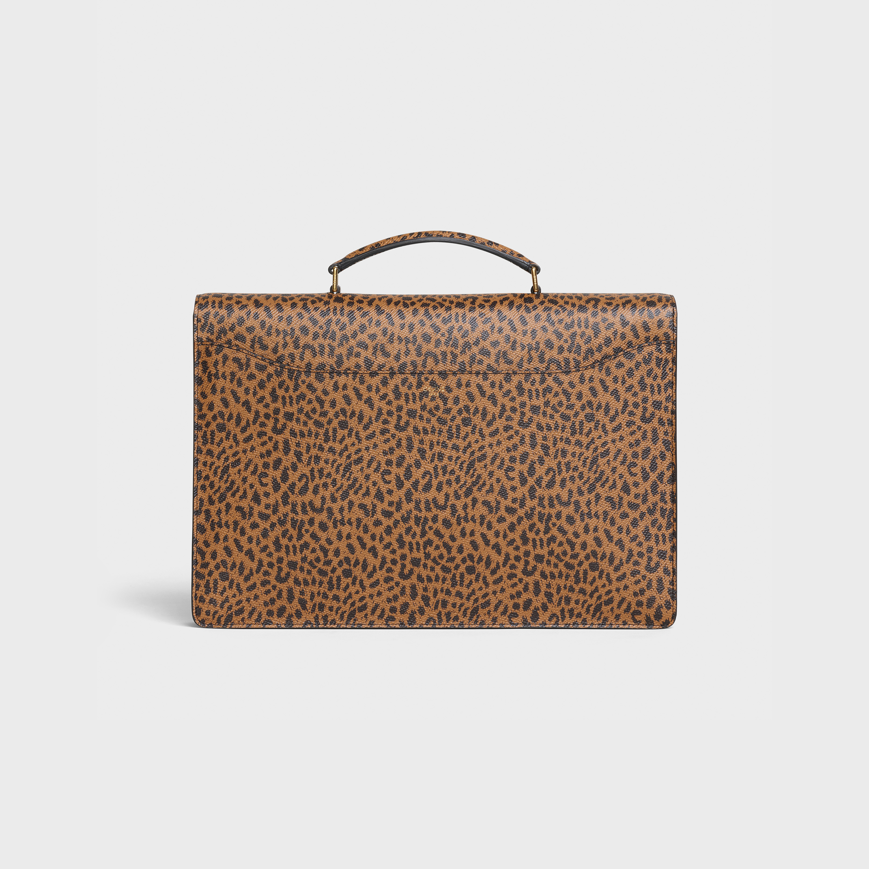 Small Cartable Bag in Grained Calfskin with Leopard print | CELINE
