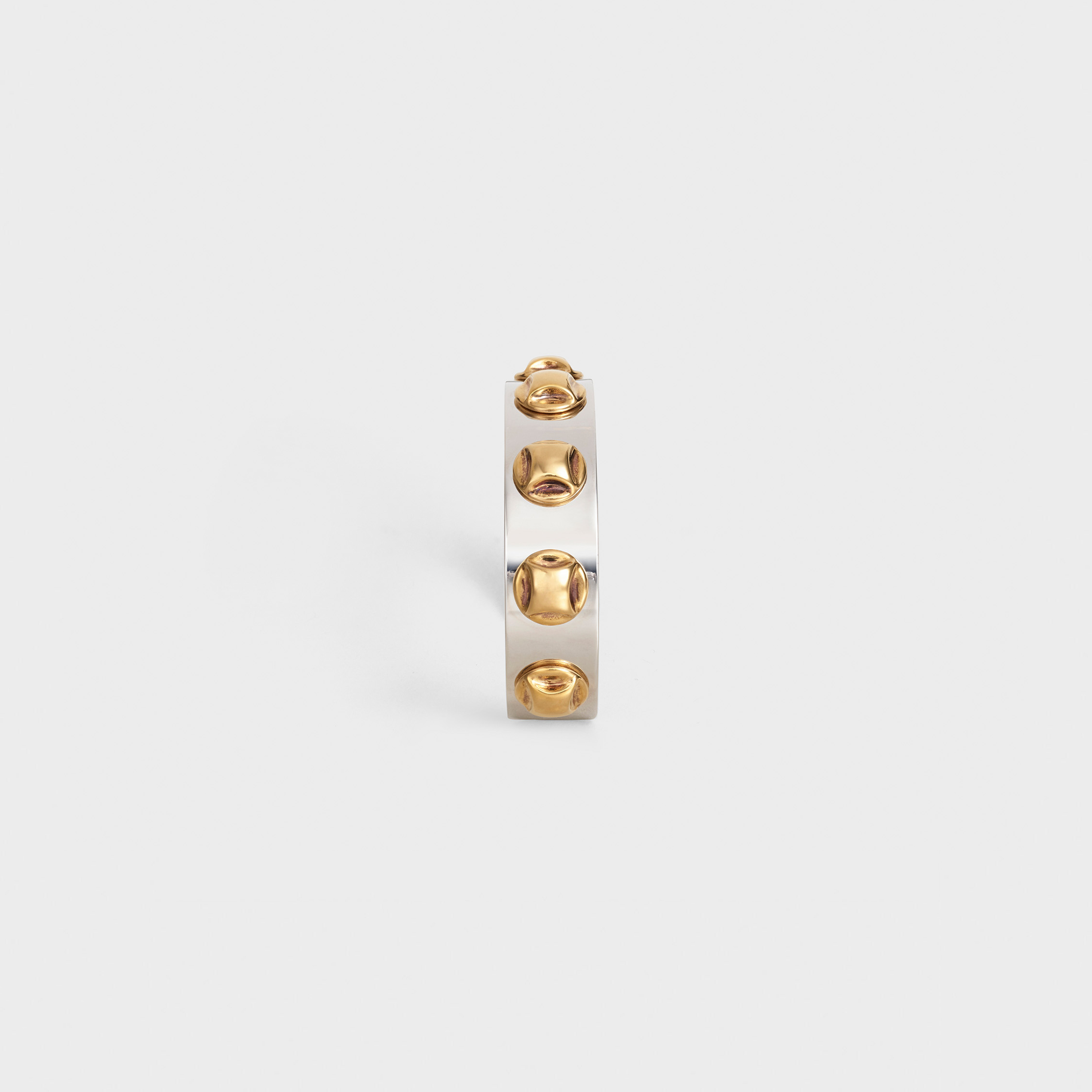 Clous Celine bicolor bangle in brass with gold and rhodium finish | CELINE