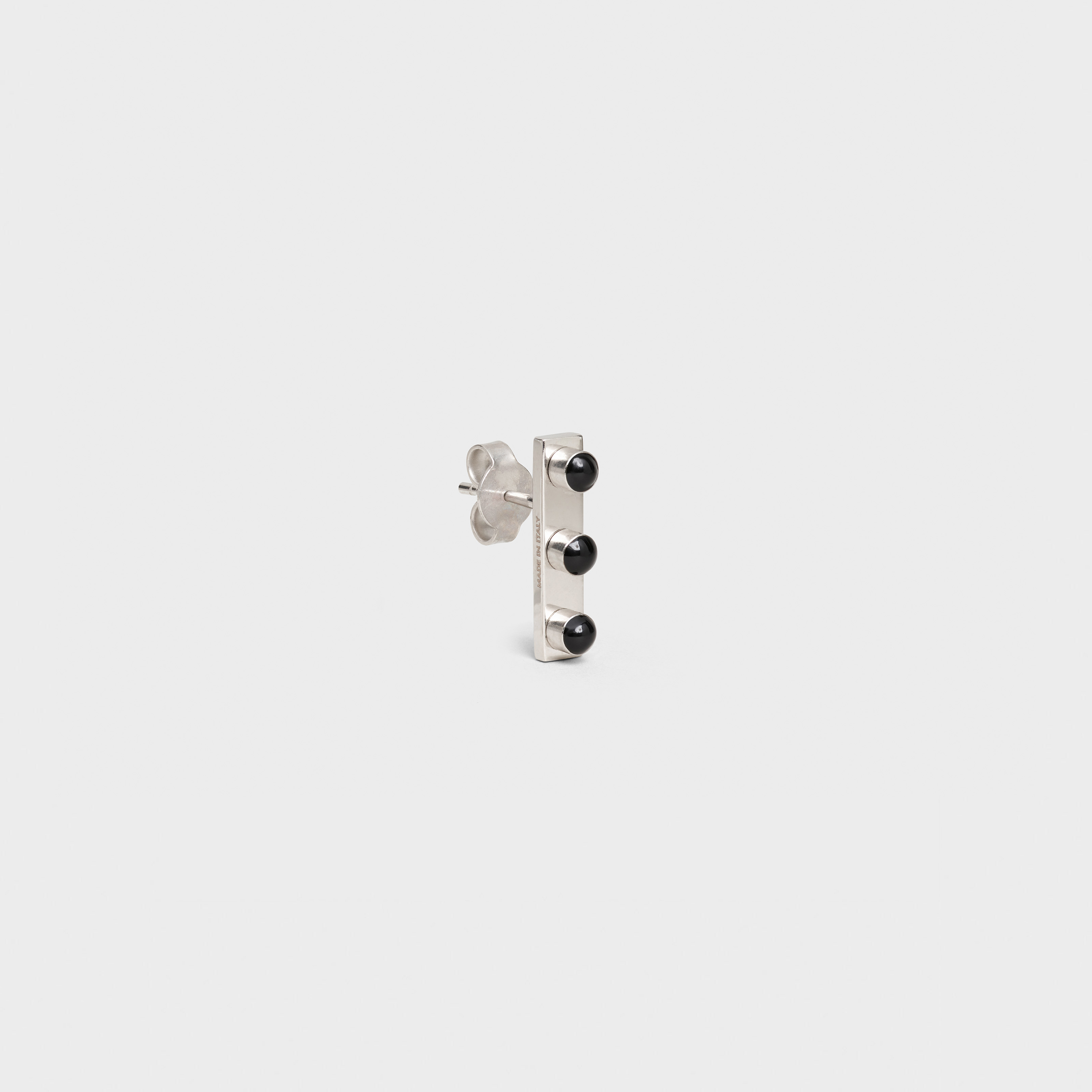 Technicolor Stud in Brass with Rhodium finish and Enamel | CELINE