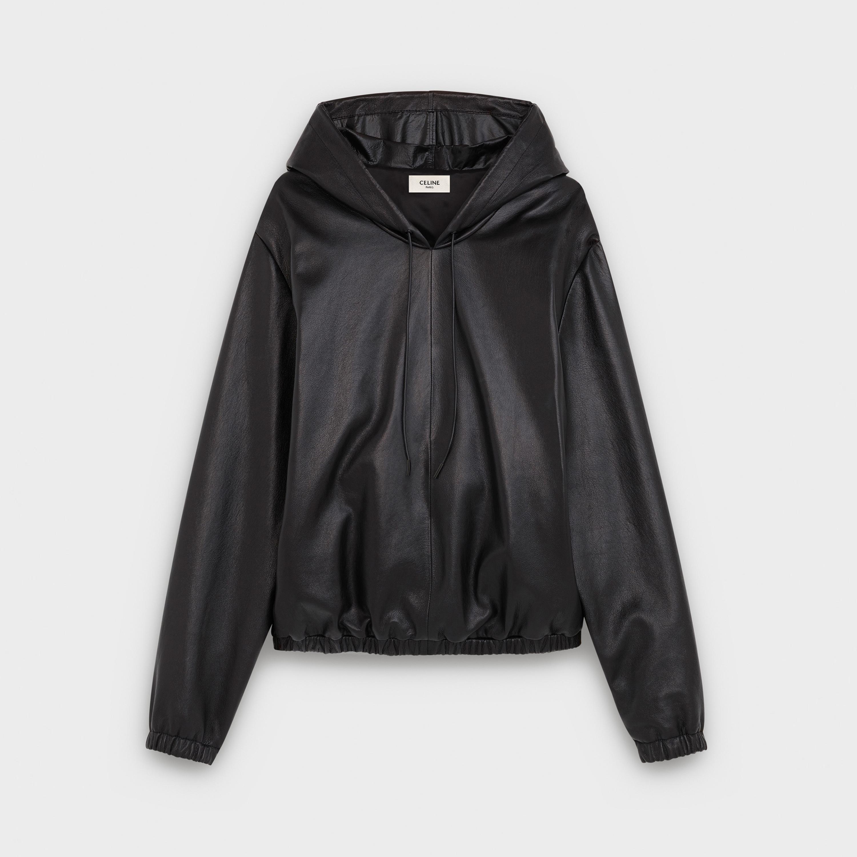 pull cuir noir capuche fcb