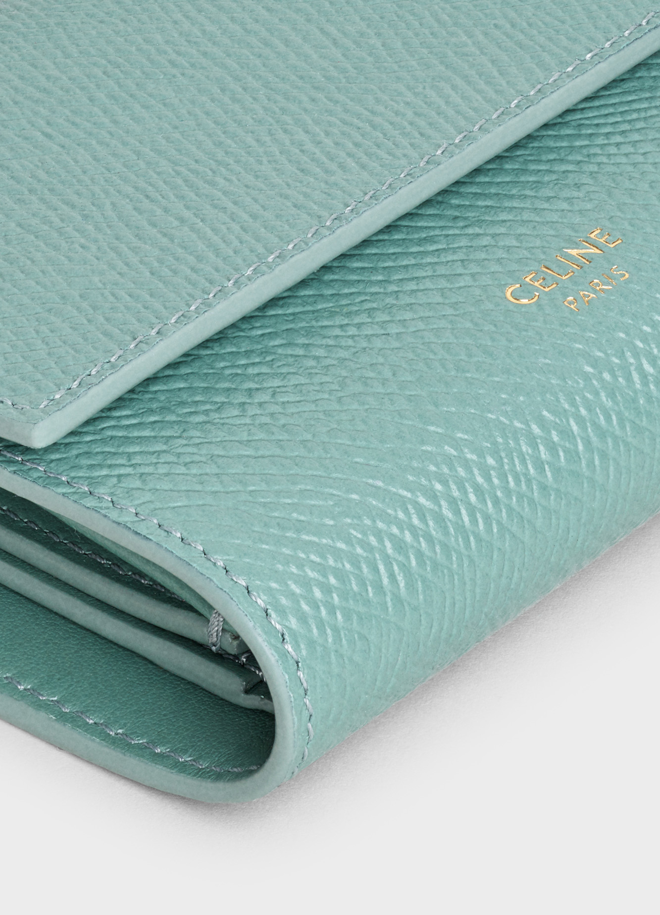 Small trifold wallet in Grained calfskin | CELINE