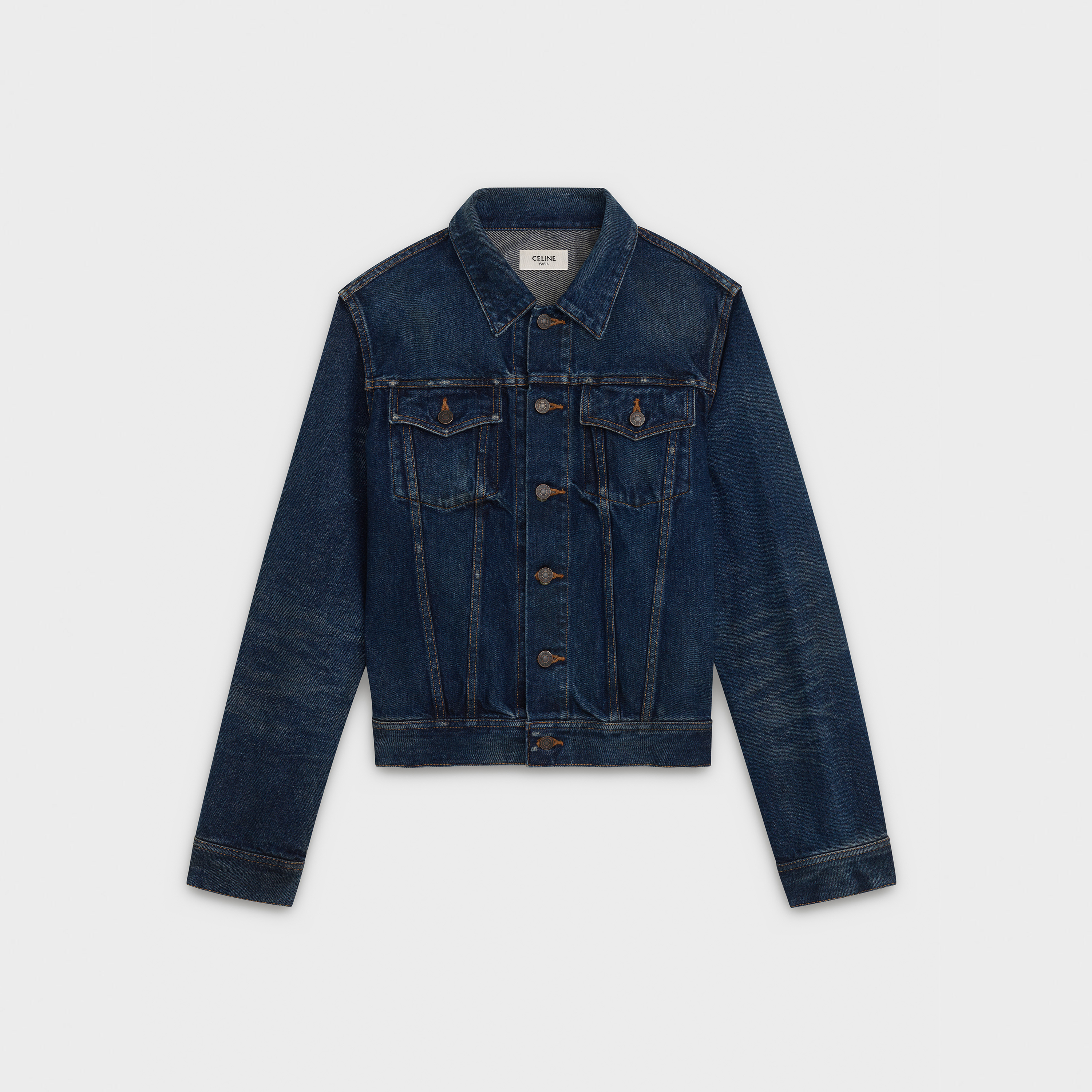 classic trucker jacket in denim | CELINE