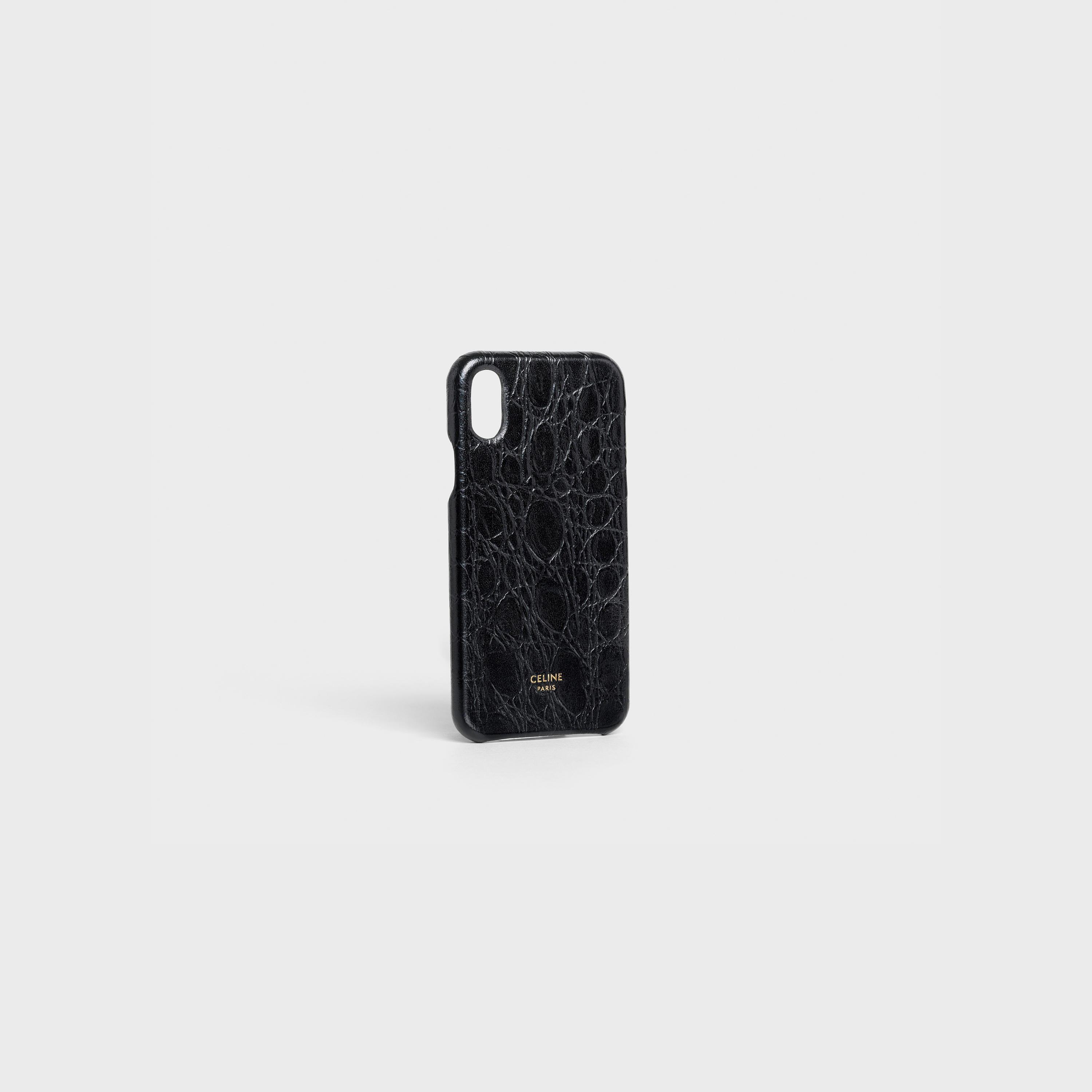 Iphone X & XS case in lambskin stamped crocodile | CELINE