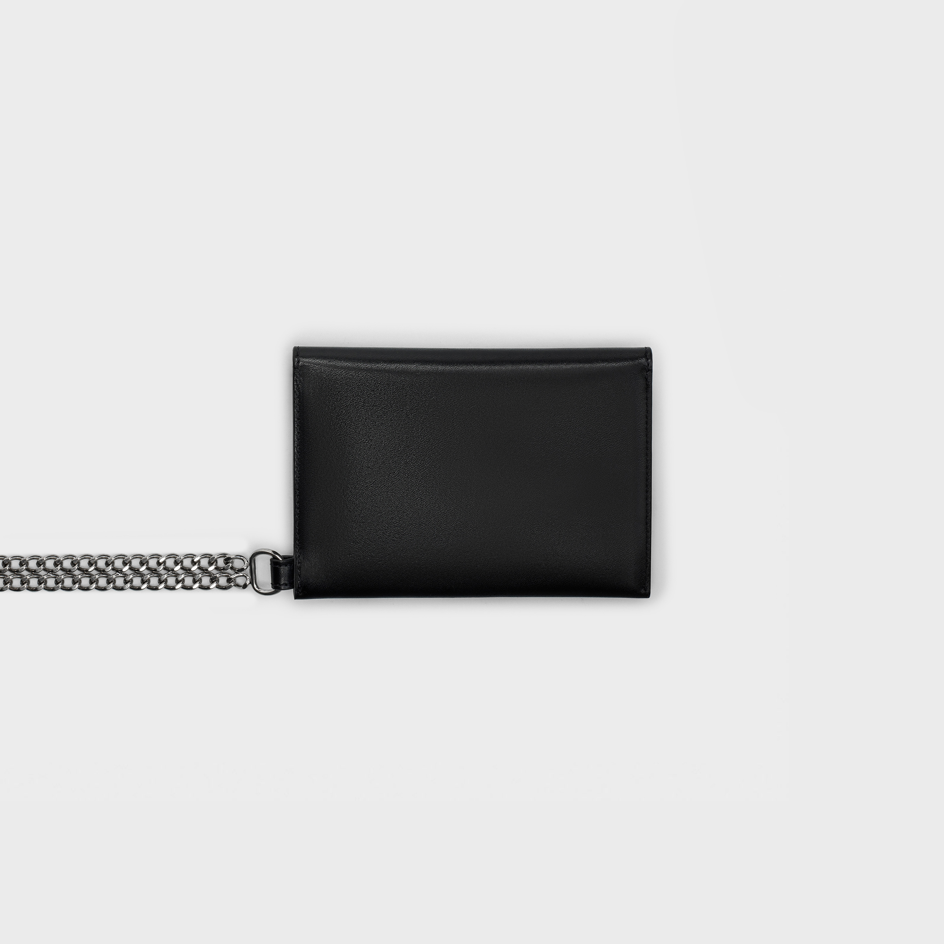 Biker wallet with chain in smooth calfskin | CELINE