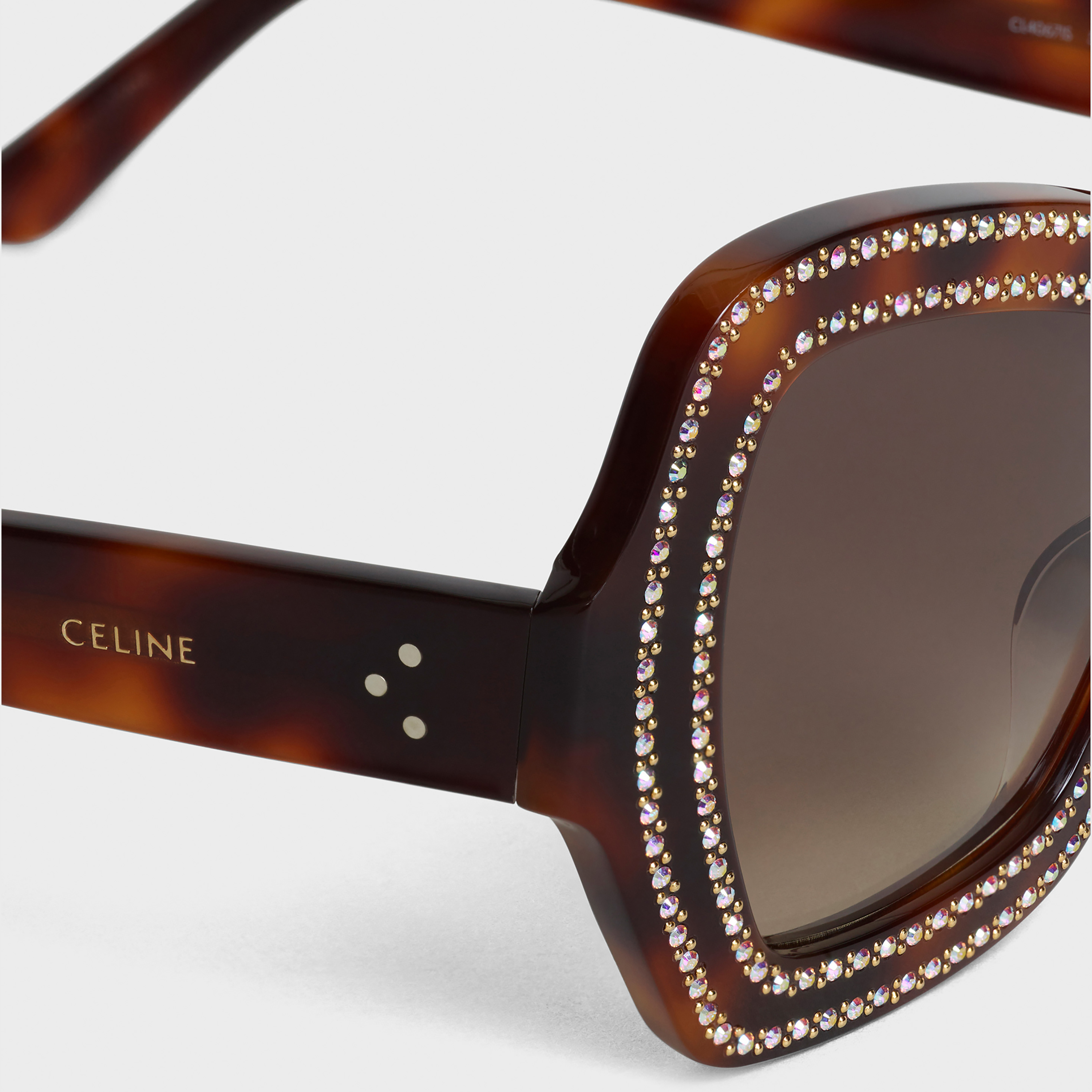 Butterfly sunglasses in acetate and crystals | CELINE
