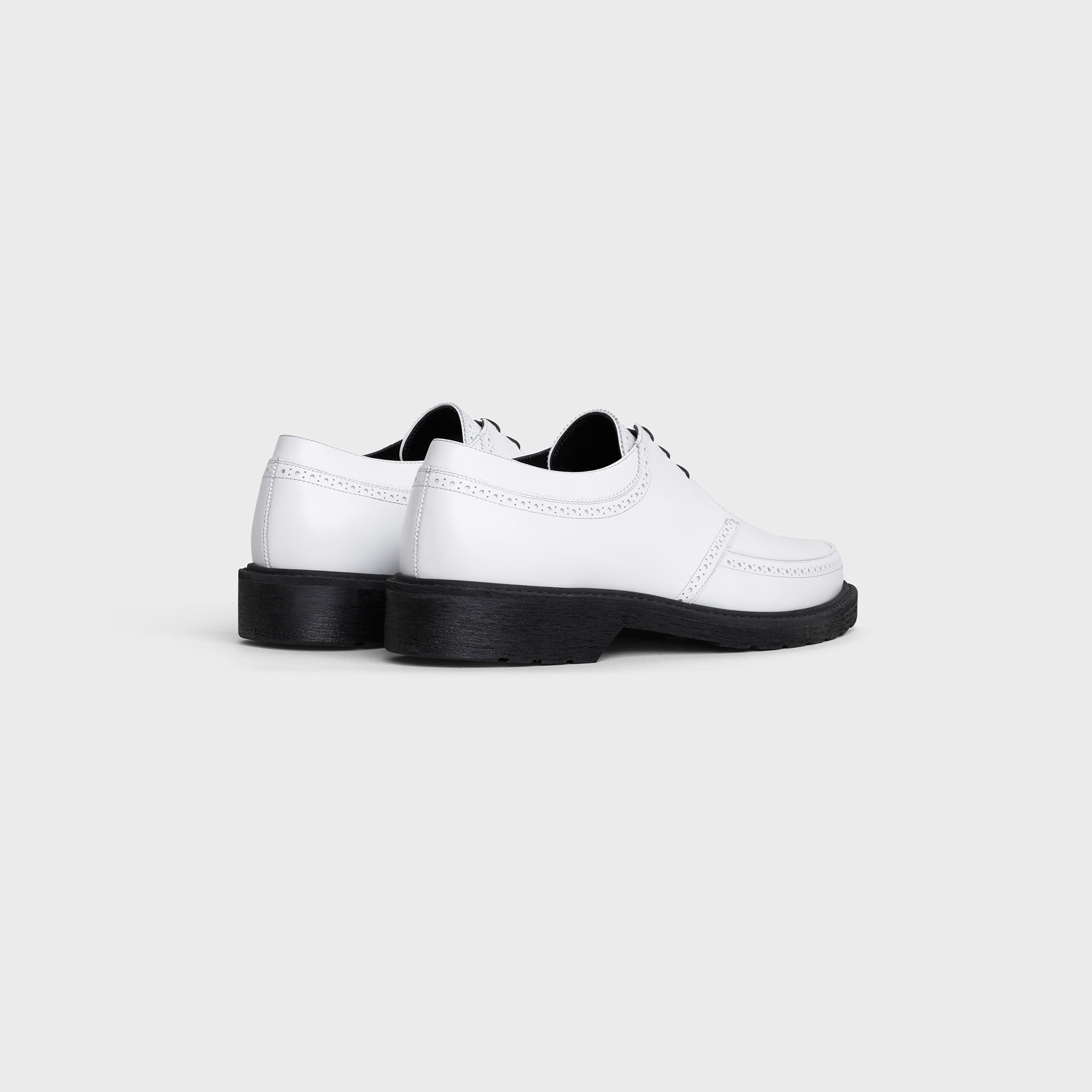 CELINE CREEPERS Derby with brogue details in Shiny calfskin | CELINE