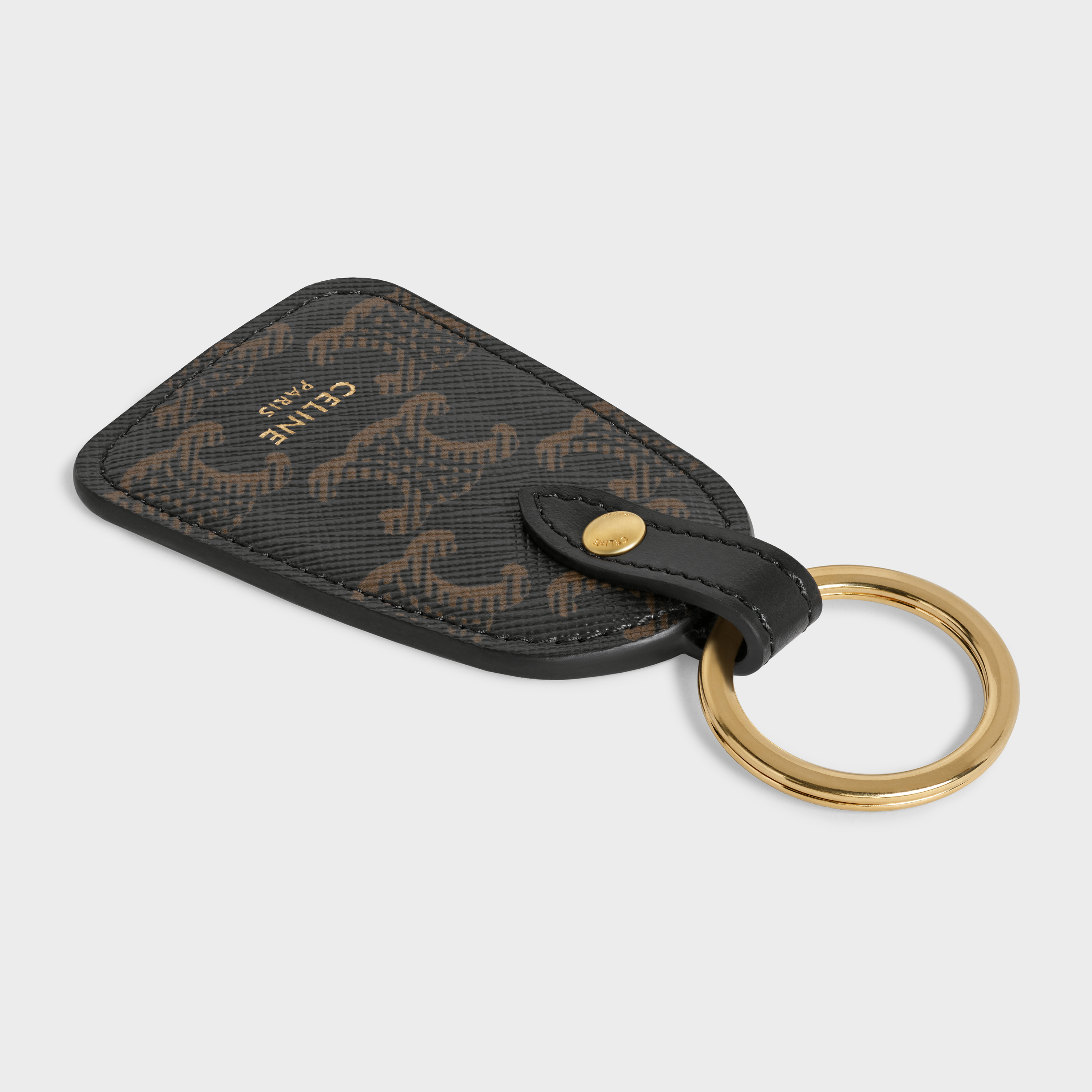 Key holder in Triomphe canvas and calfskin | CELINE