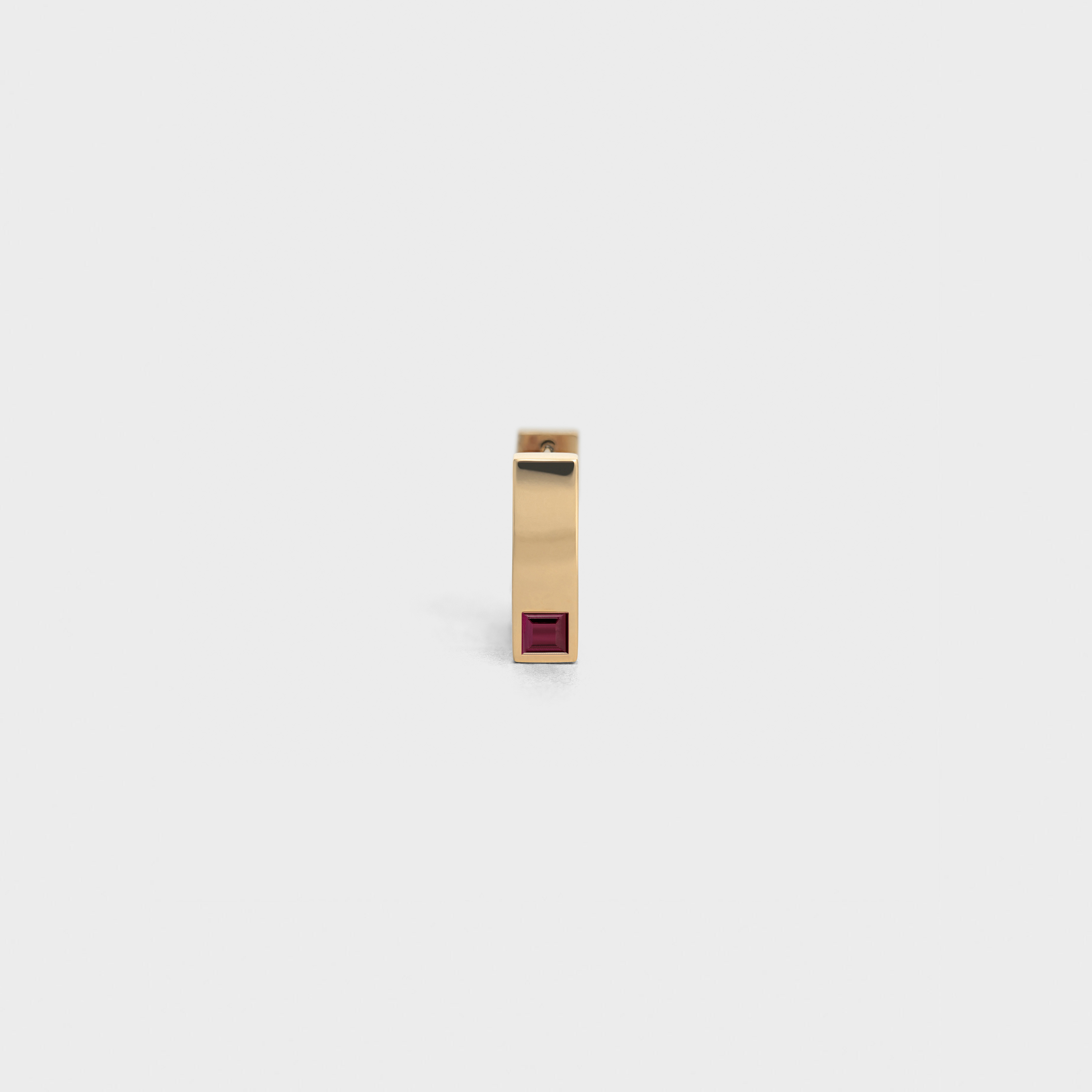 Celine Sentimental Square Earring in Yellow Gold and Ruby | CELINE
