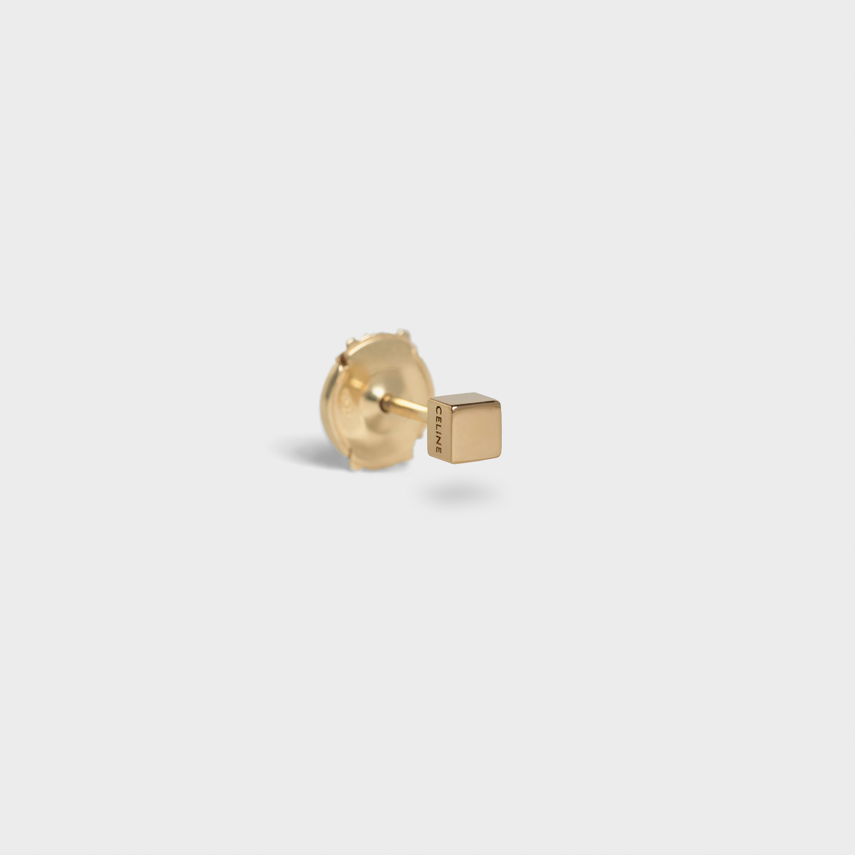 Celine Sentimental Square Stud in Yellow Gold | CELINE