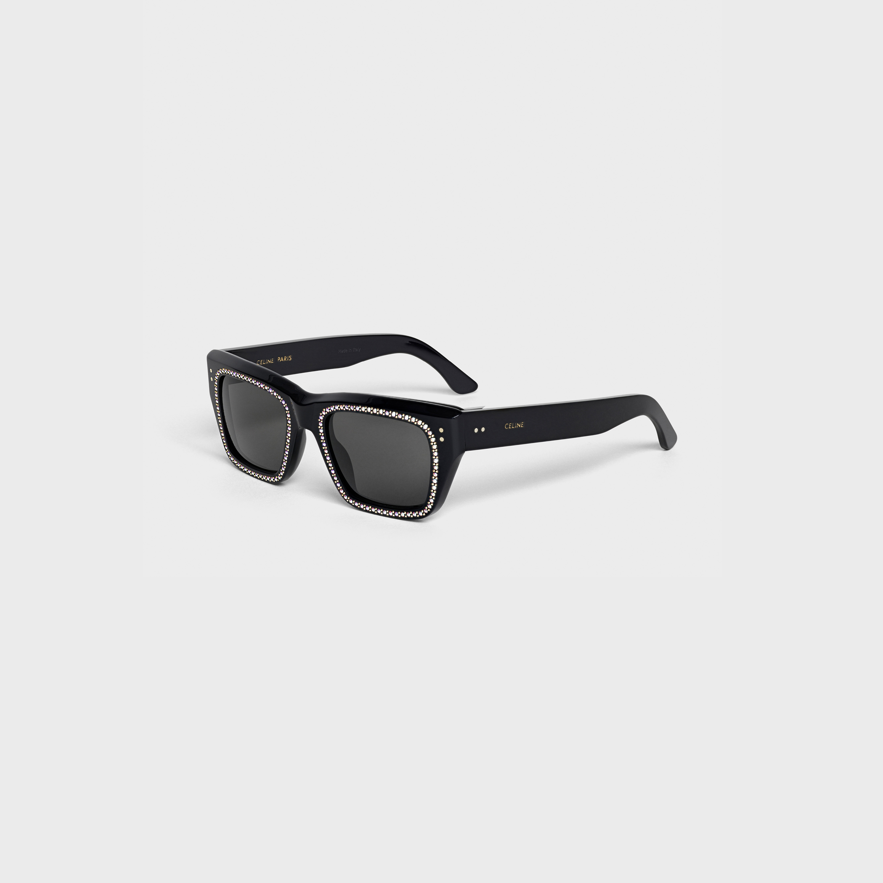 Black Frame 02 sunglasses in Acetate with Crystals and Metal | CELINE