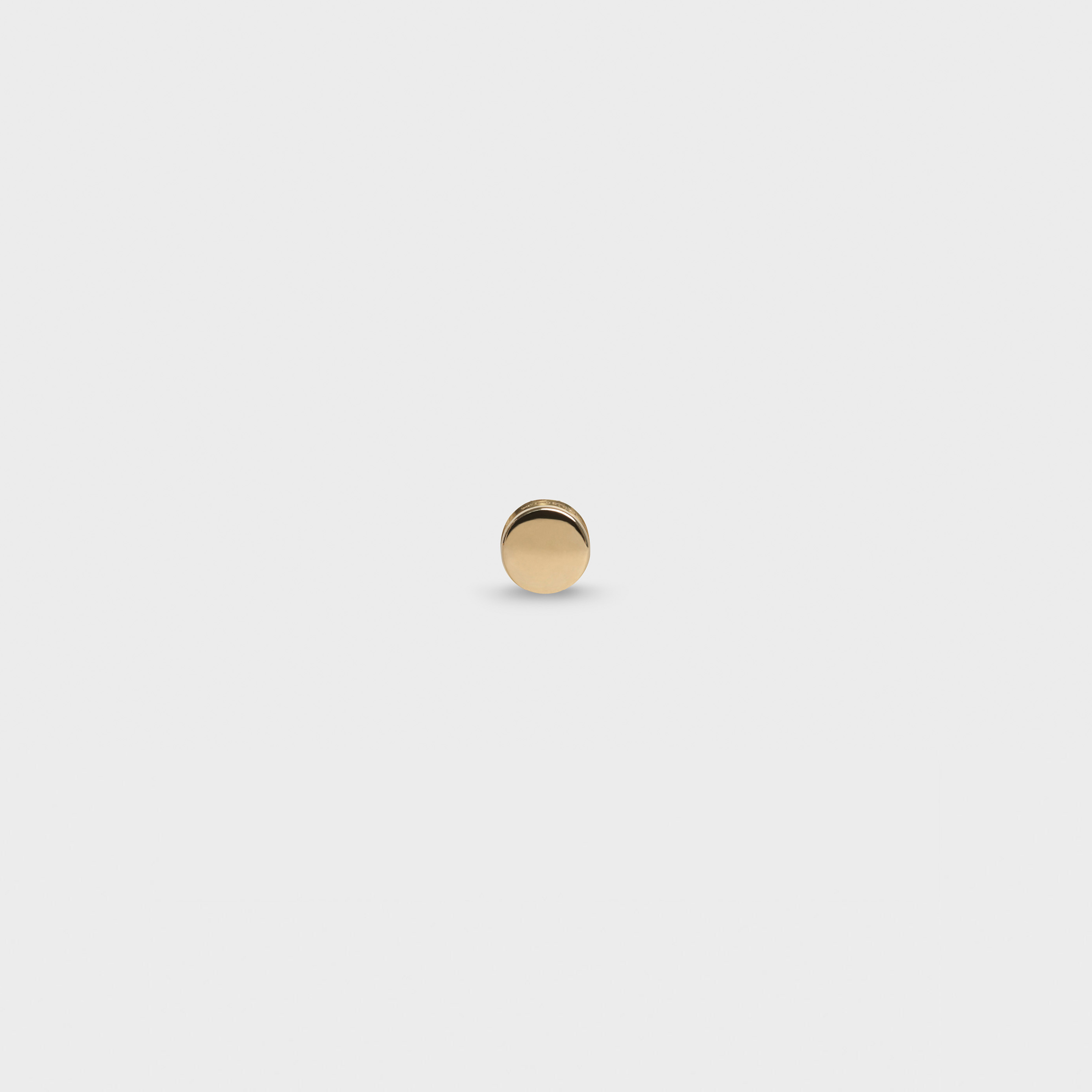 Celine Sentimental Round Stud in Yellow Gold | CELINE