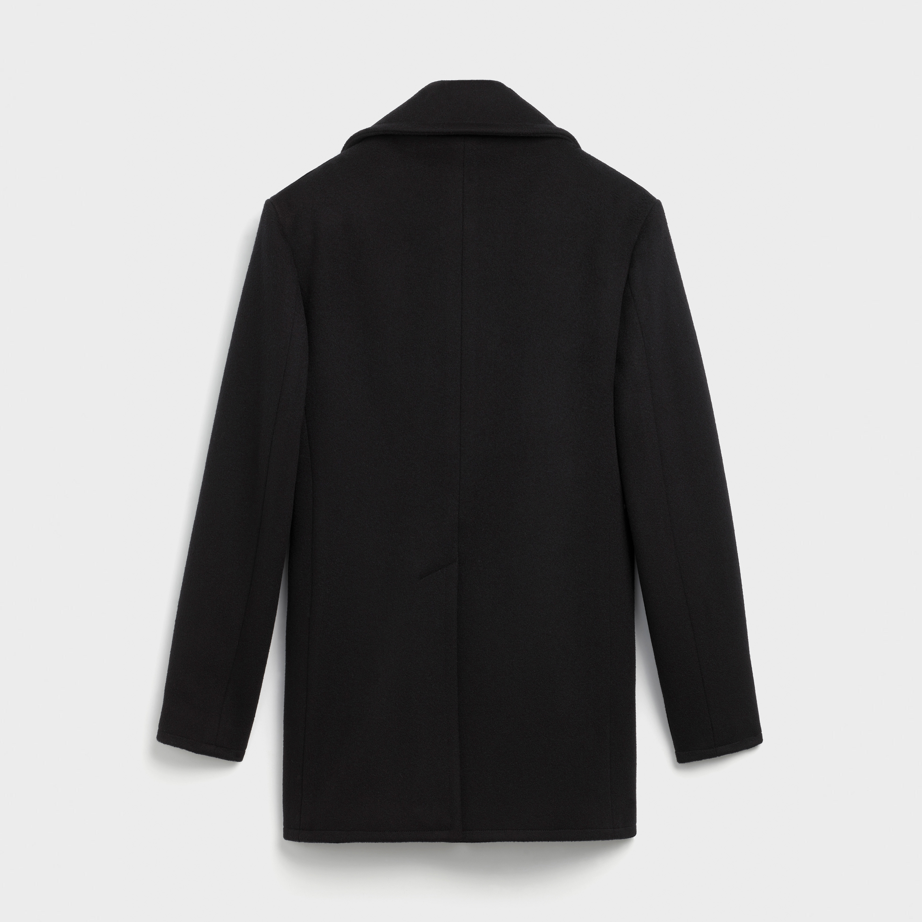 classic double-breasted pea jacket in wool | CELINE