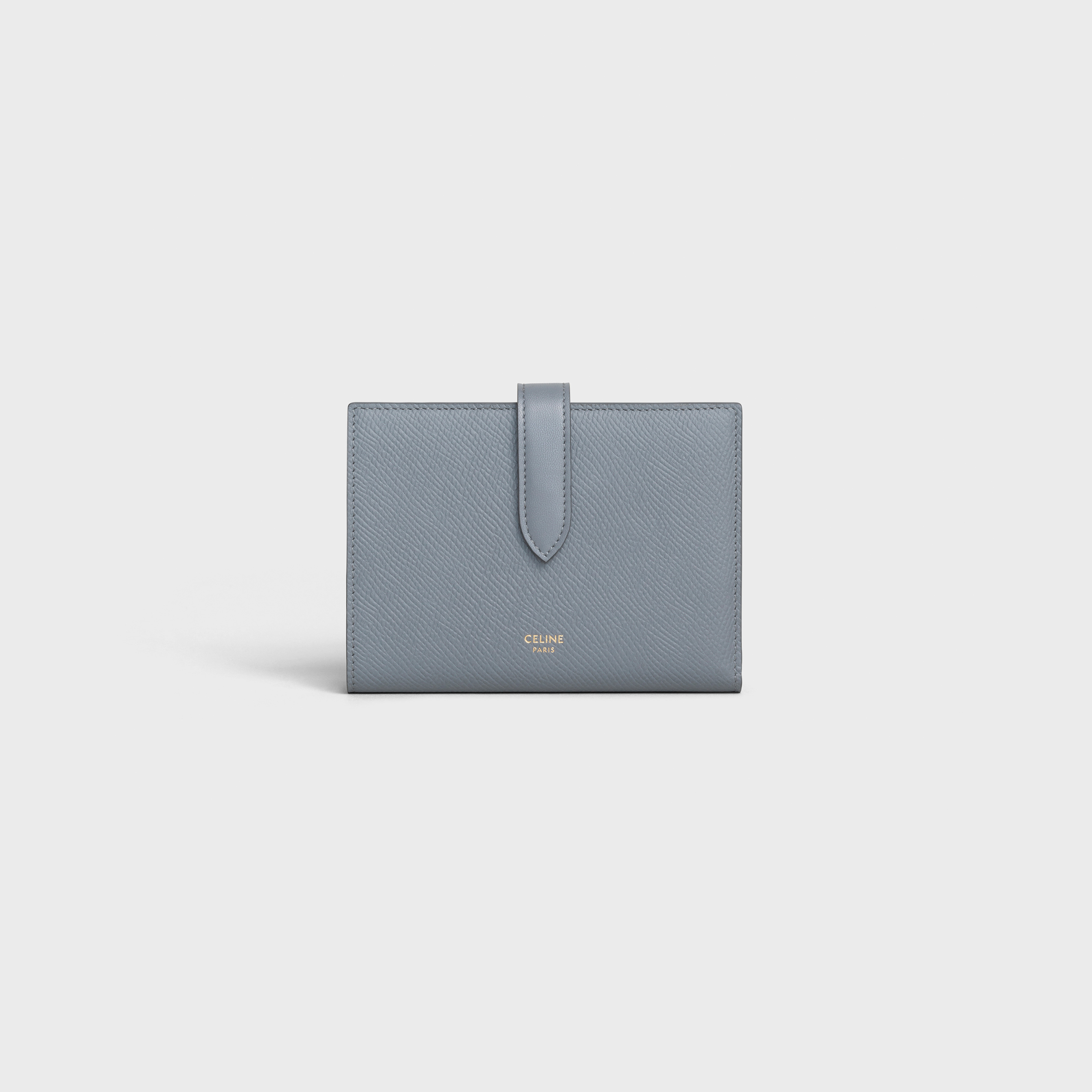 Medium strap wallet in Grained calfskin | CELINE