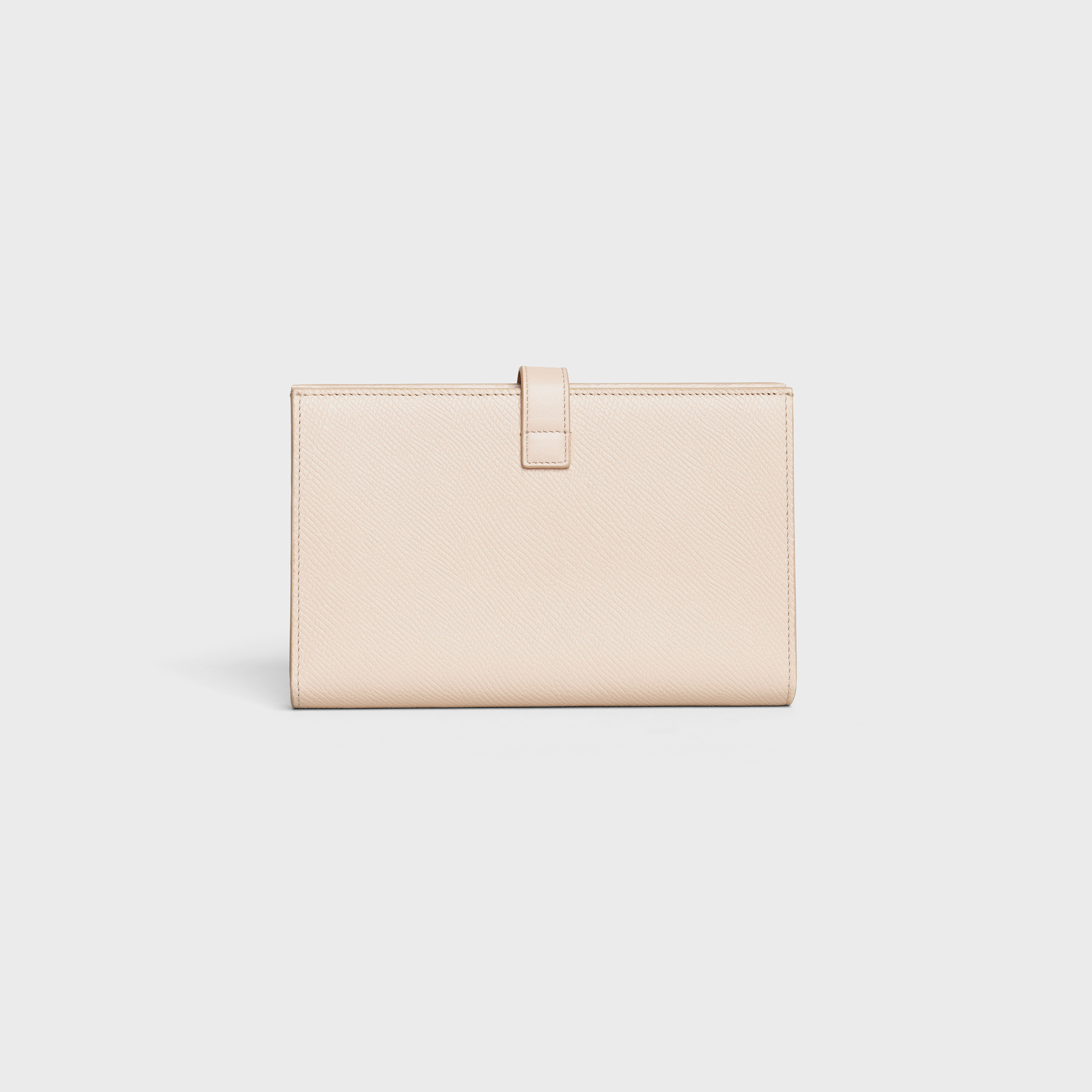 Large strap wallet in Grained calfskin | CELINE