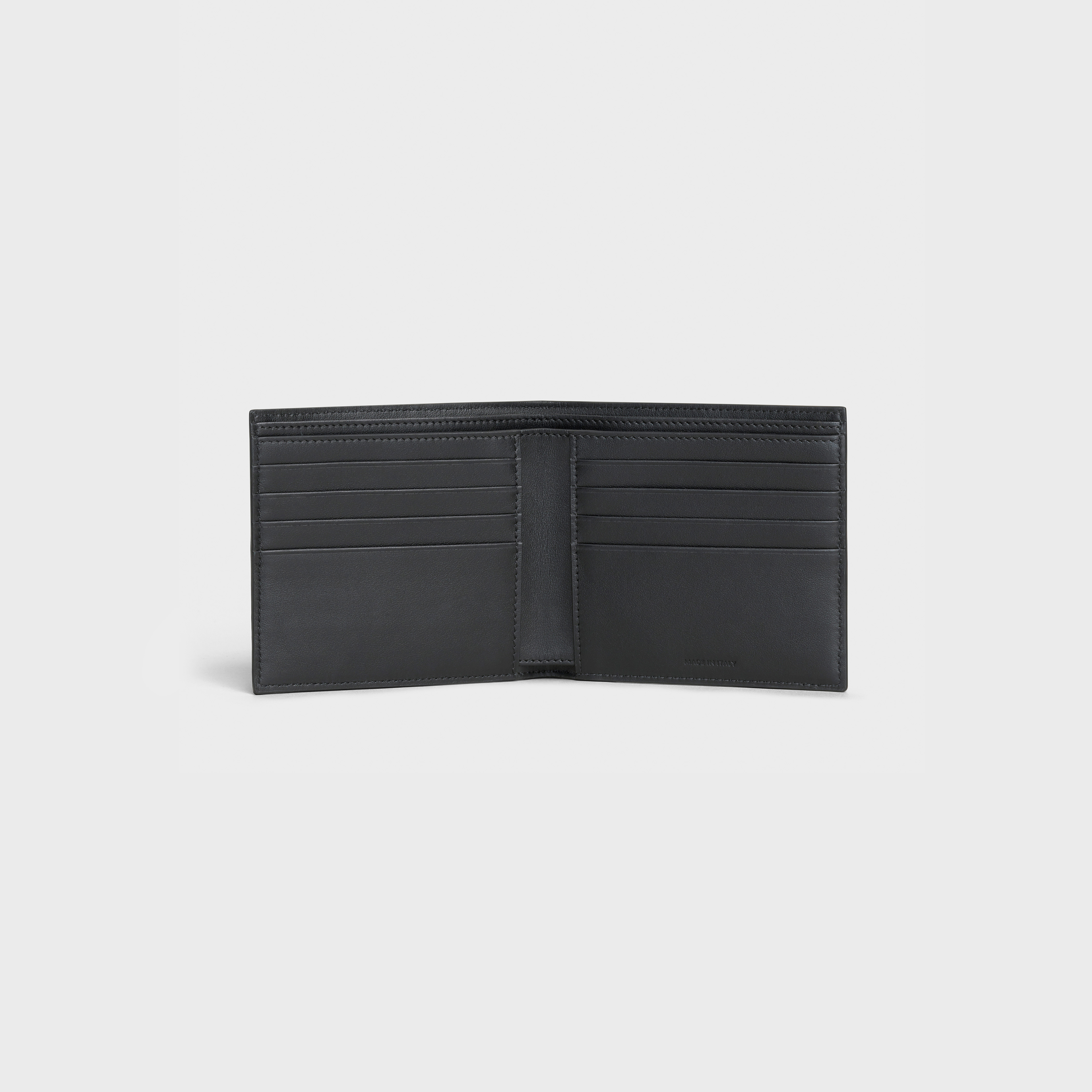 Bi-fold wallet in Grained calfskin | CELINE