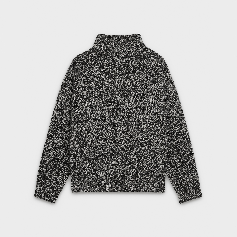 oversize turtleneck sweater in cashmere