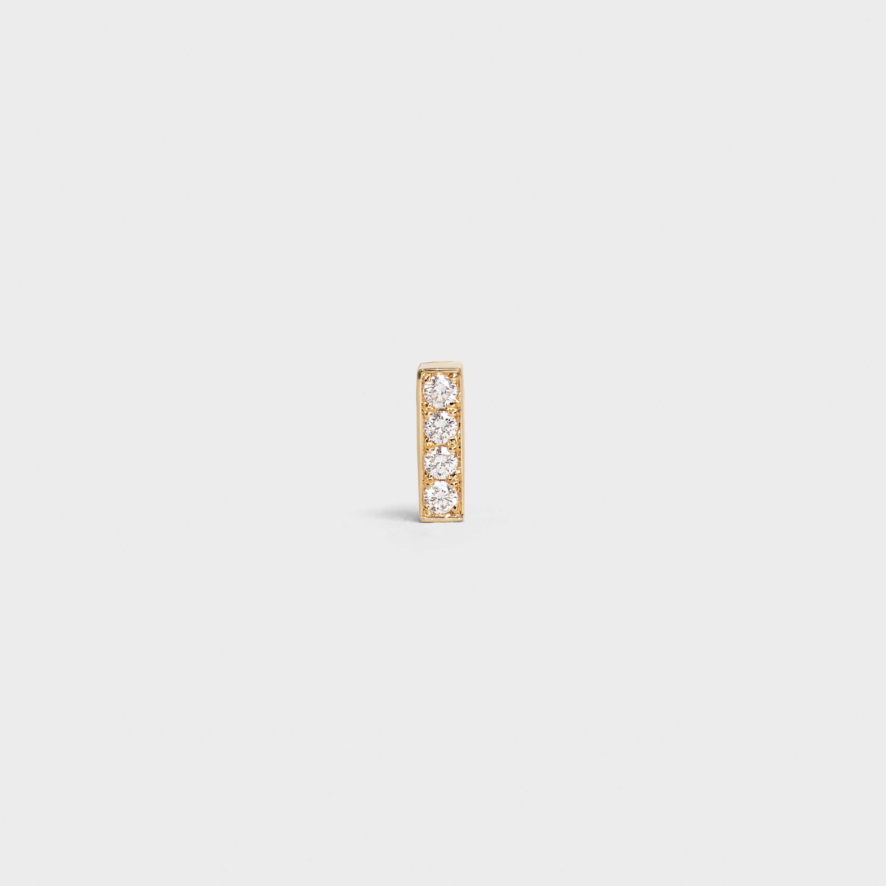 Celine Sentimental Small Line Stud in Yellow Gold and Diamond | CELINE