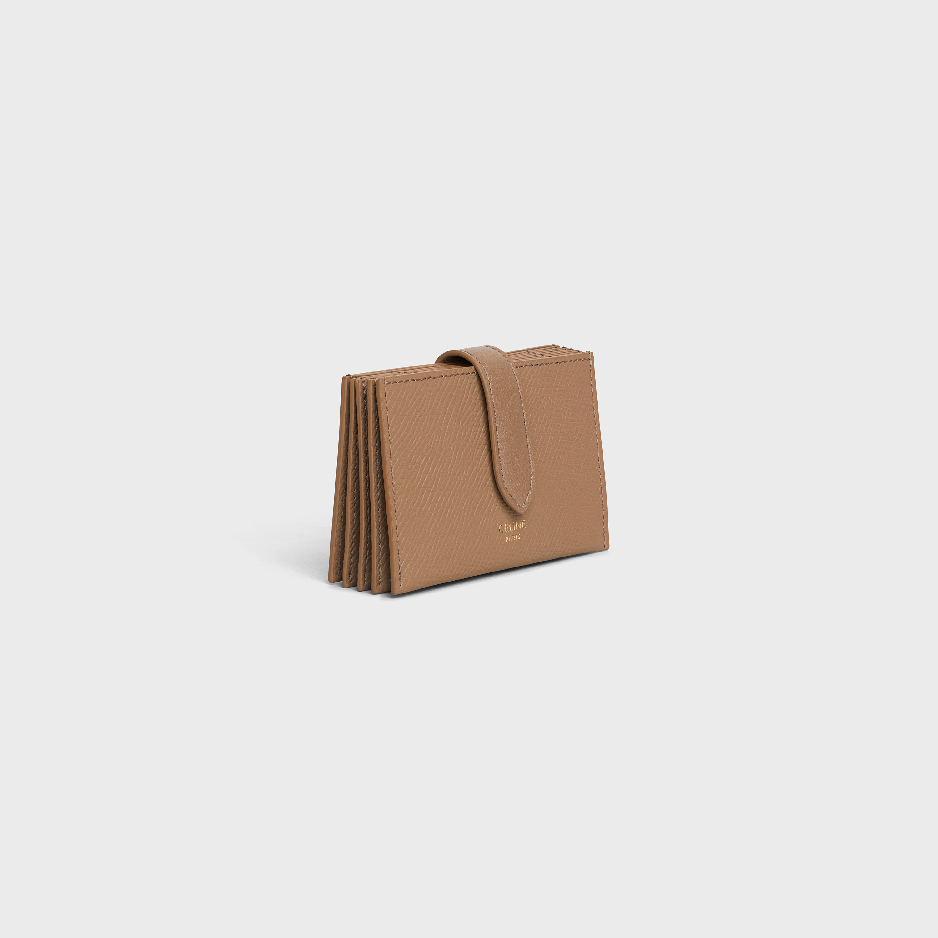 Accordeon card holder in grained calfskin | CELINE
