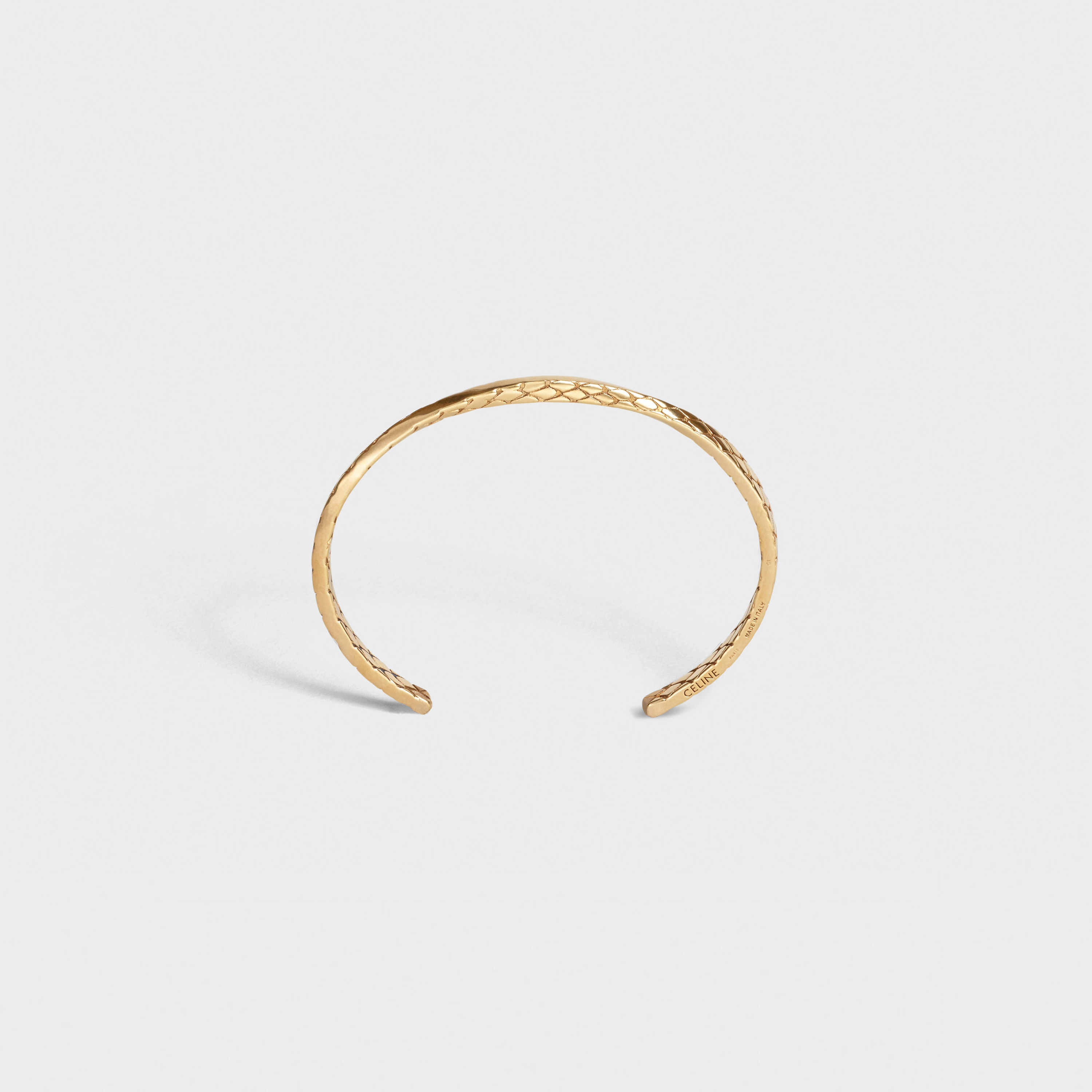 Celine Animals Twisted Bracelet in Brass with Vintage Gold finish | CELINE