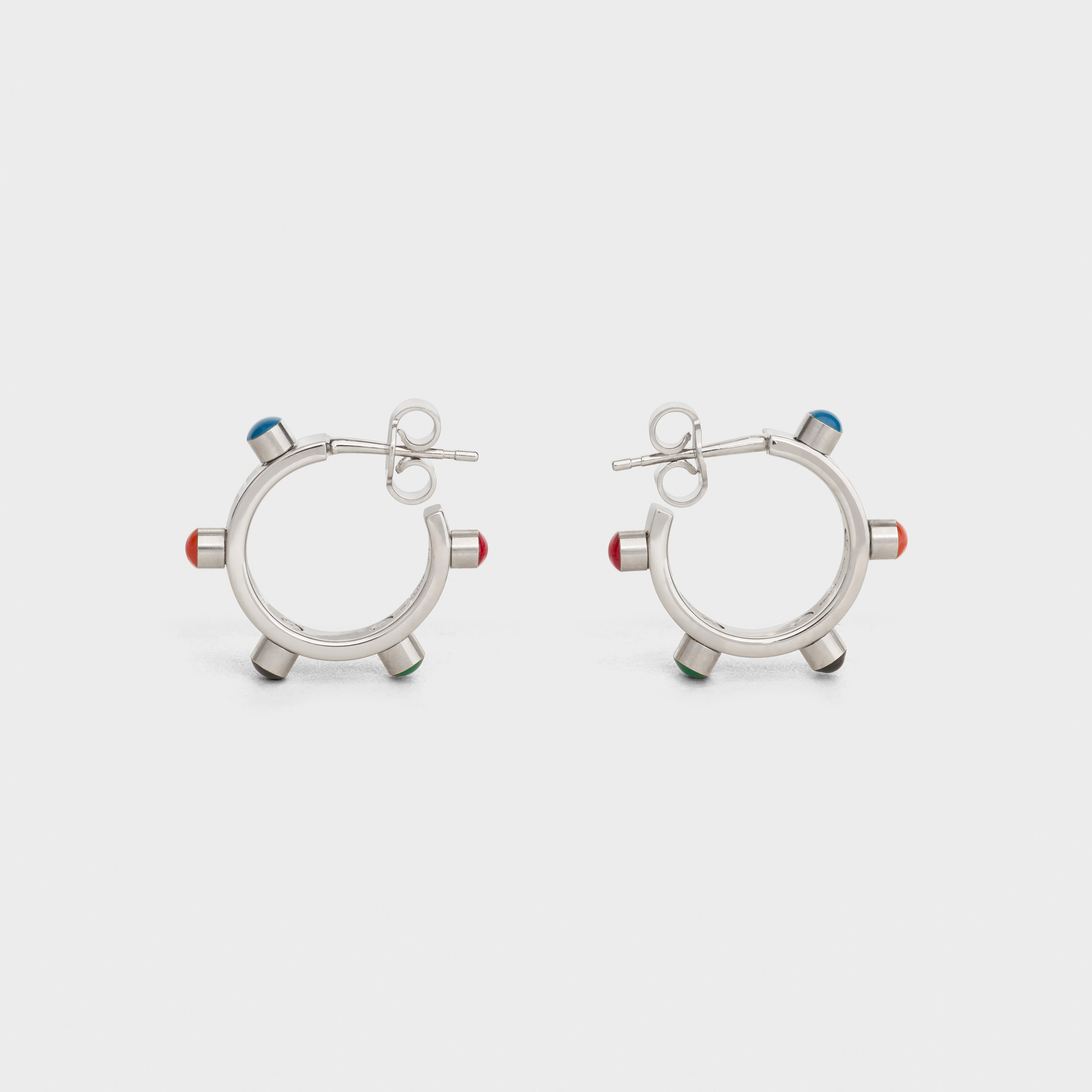 Technicolor Hoops in Brass with Rhodium finish and Enamel | CELINE