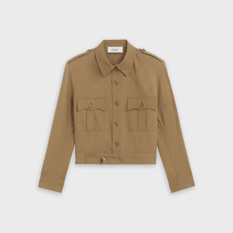 aviator jacket in cotton linen