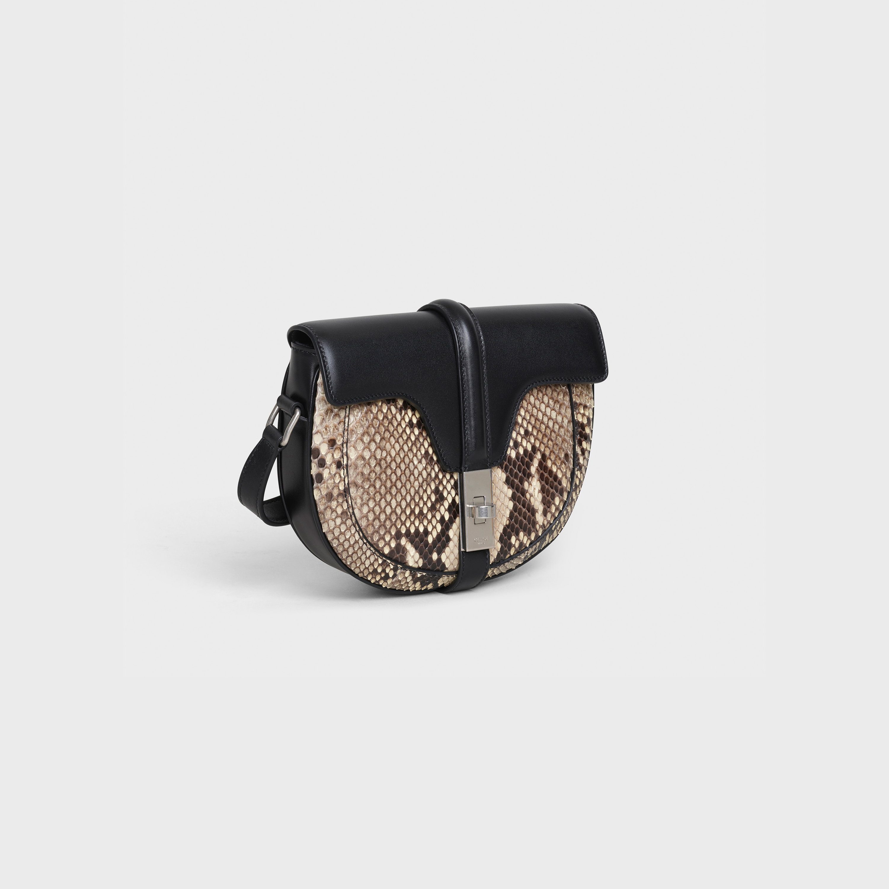 Small Besace 16 Bag in python and satinated calfskin | CELINE