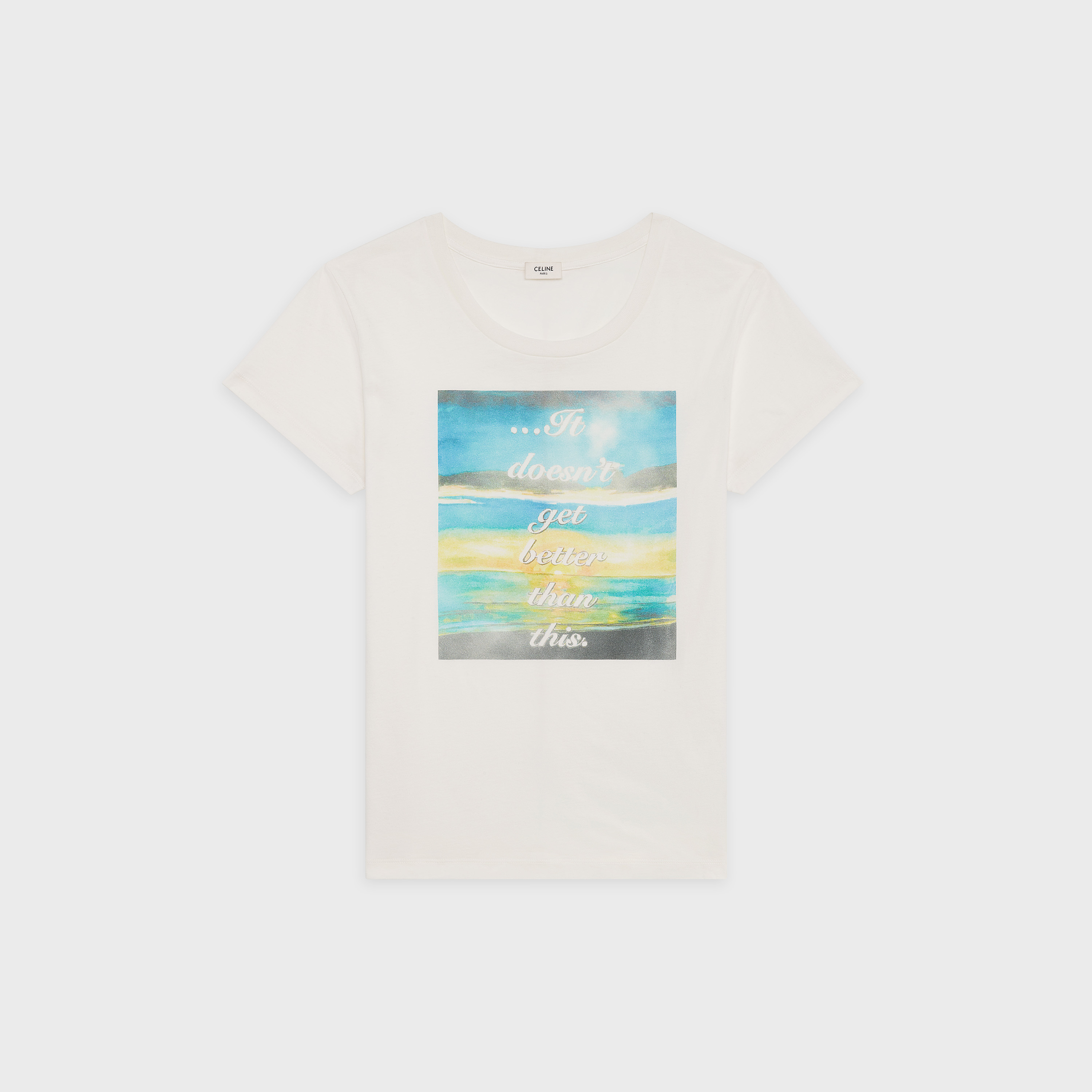 t shirt in printed cotton