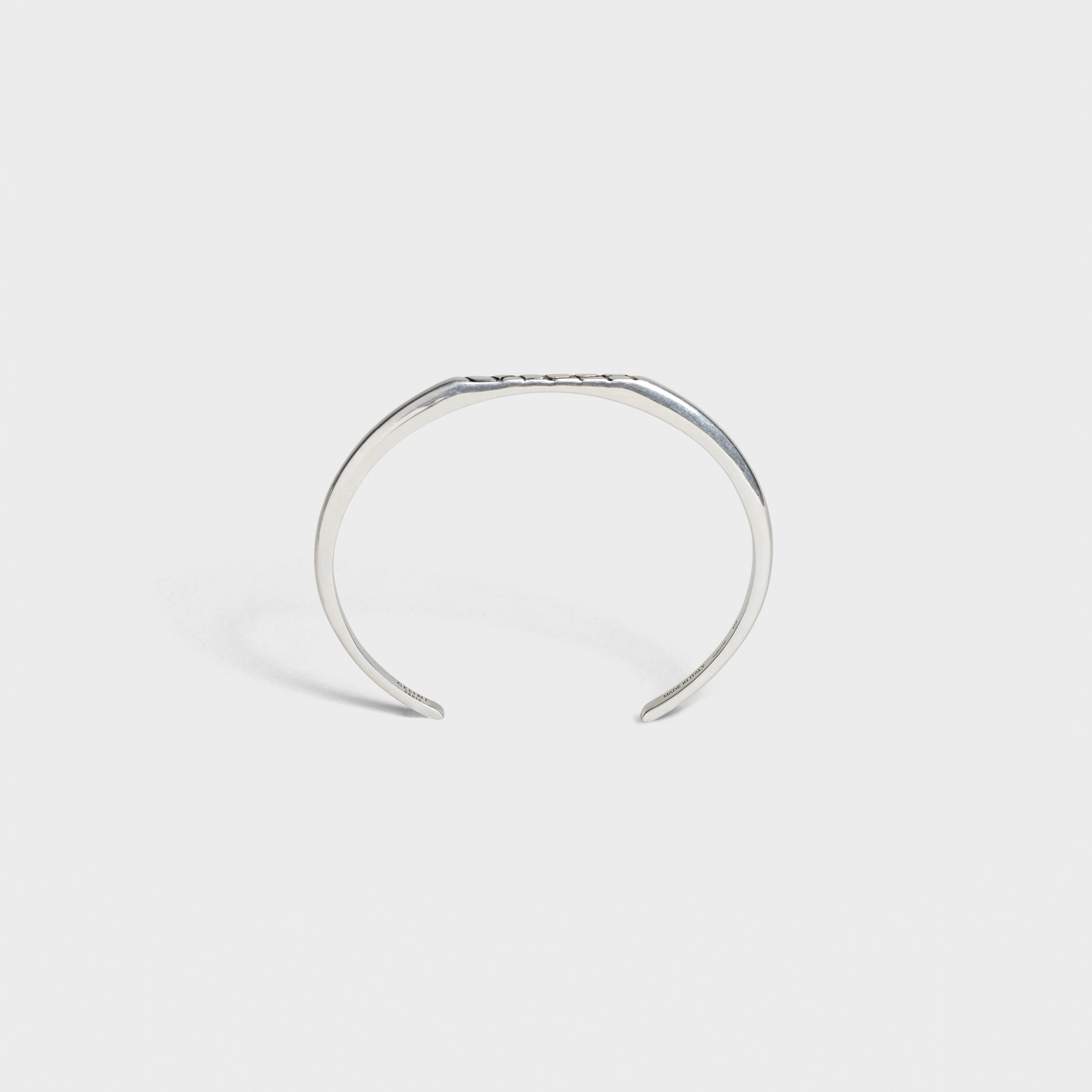 Celine Animals flat bracelet in brass with vintage silver finish | CELINE