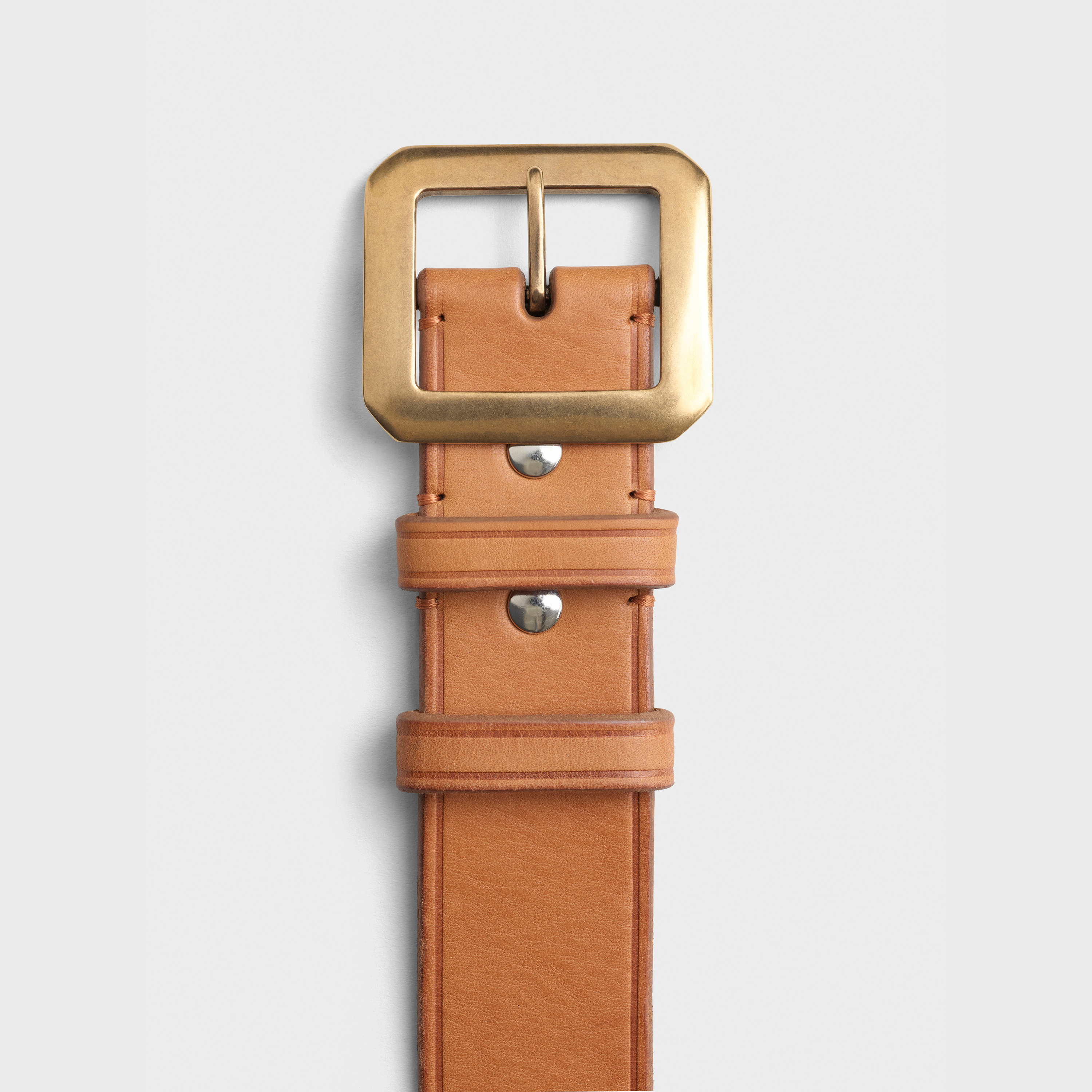 Ceinturon with square buckle in calfskin | CELINE