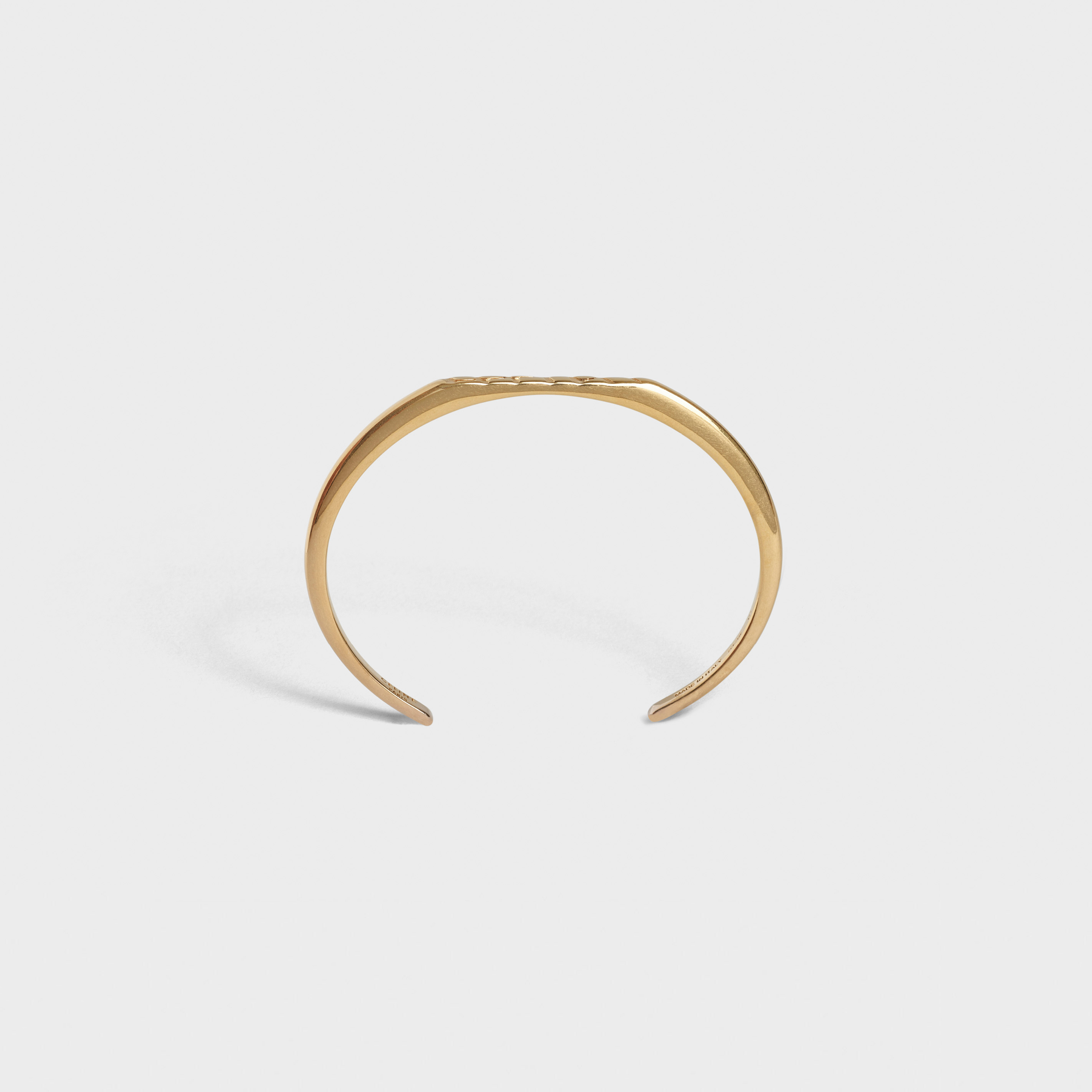 Celine Animals Flat Bracelet in Brass with Vintage Gold finish | CELINE
